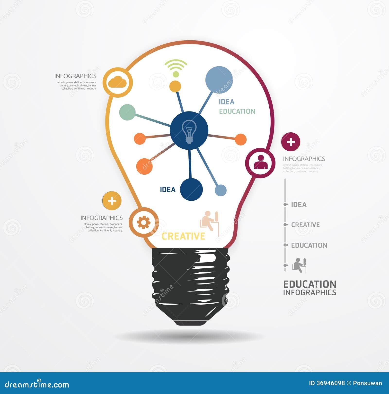 Plantilla infographic del estilo mínimo del punto ligero del diseño moderno