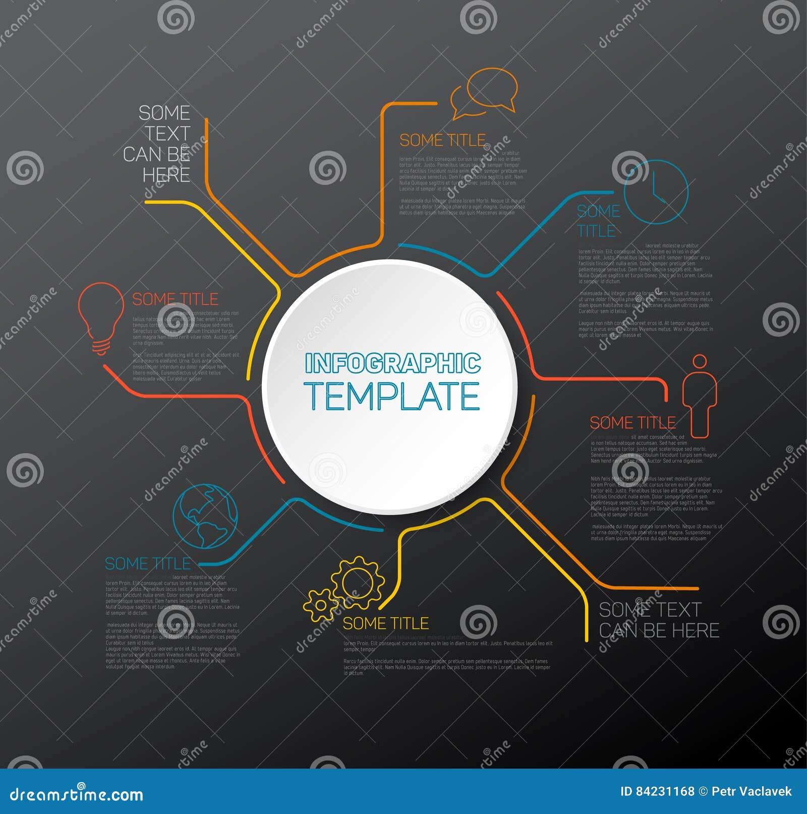 Plantilla Infographic Del Informe Del Vector Ilustración del Vector ...