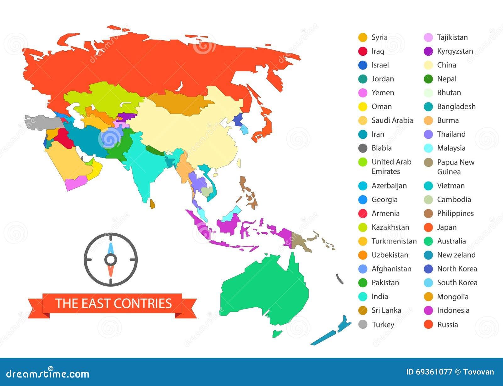 Plantilla Infographic Del Mapa Del Mundo Los Países Del Este ...