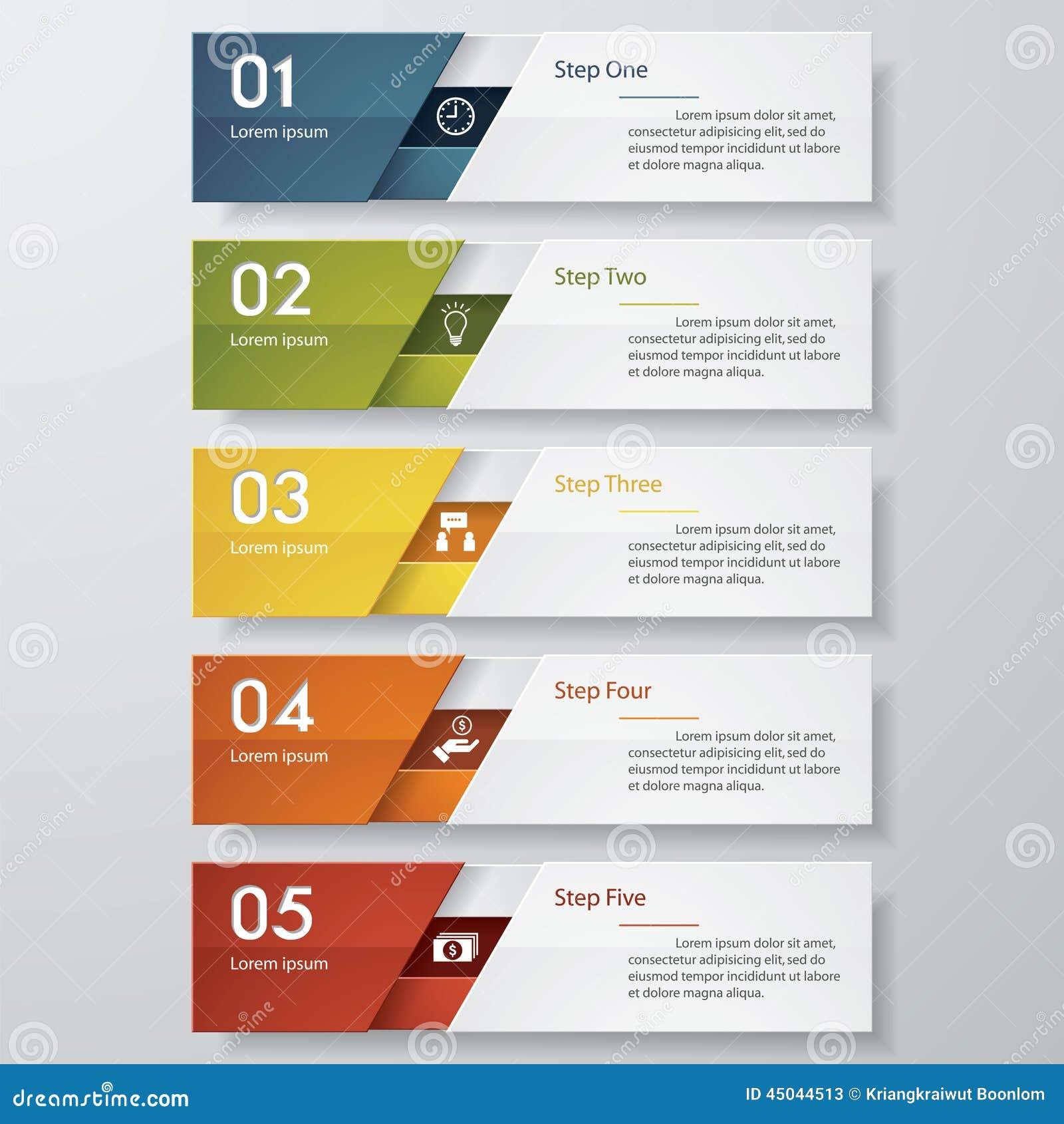 Plantilla limpia de las banderas del número del diseño Vector