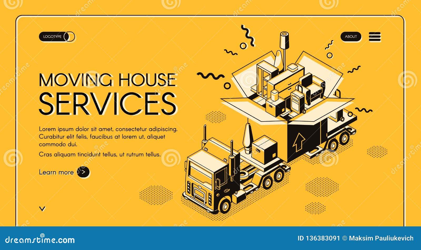 Plantilla móvil de la página web del vector de los servicios de la casa