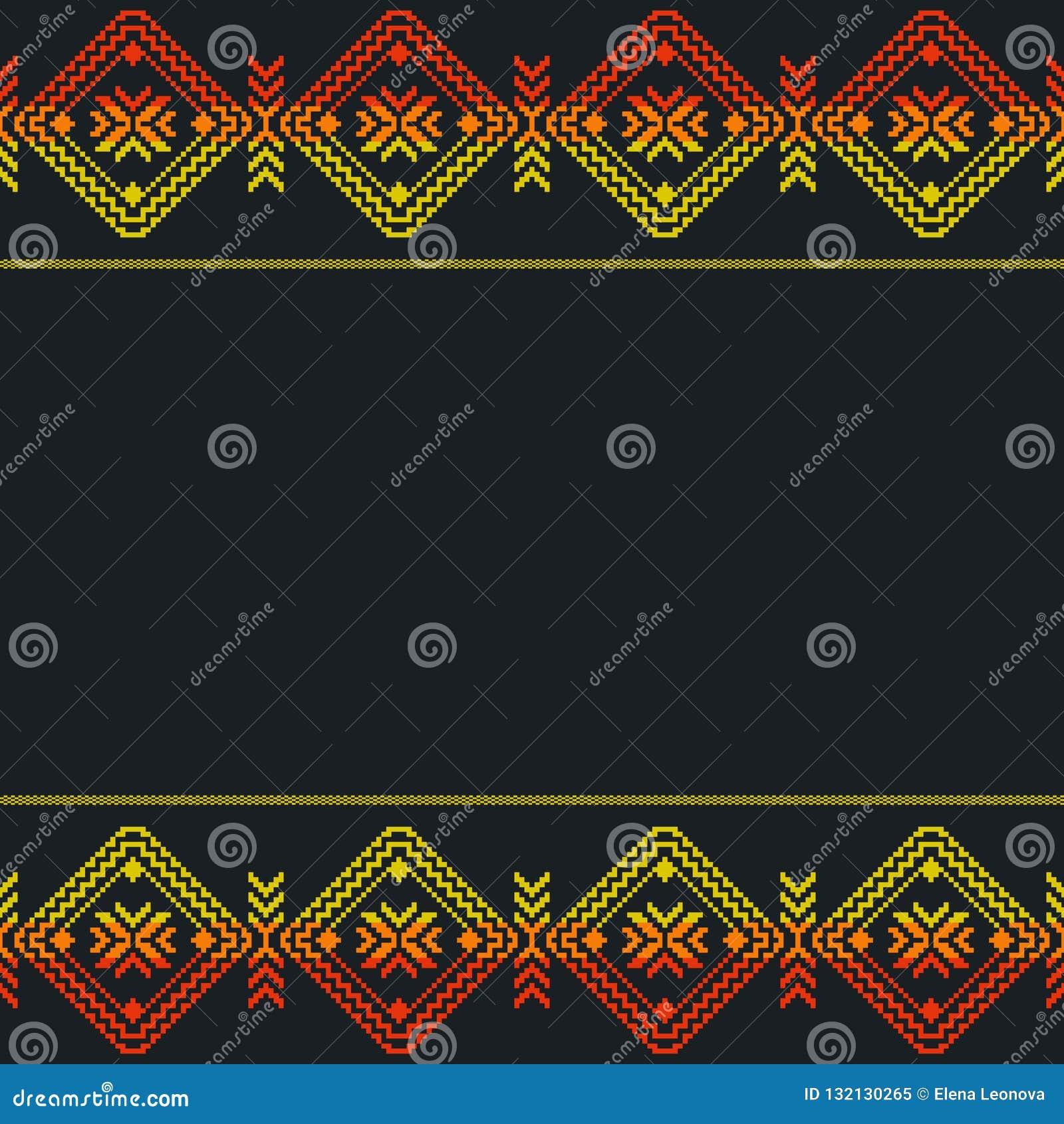 Plantilla mexicana étnica, modelo inconsútil Ornam geométrico azteca