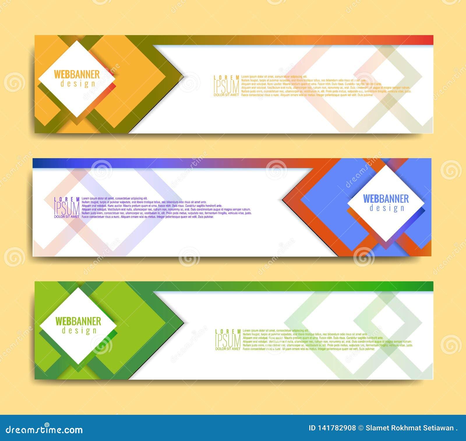 Plantilla moderna de la bandera, plantilla minimalista de la web de la bandera, diseño promocional de la bandera, fondos abstract