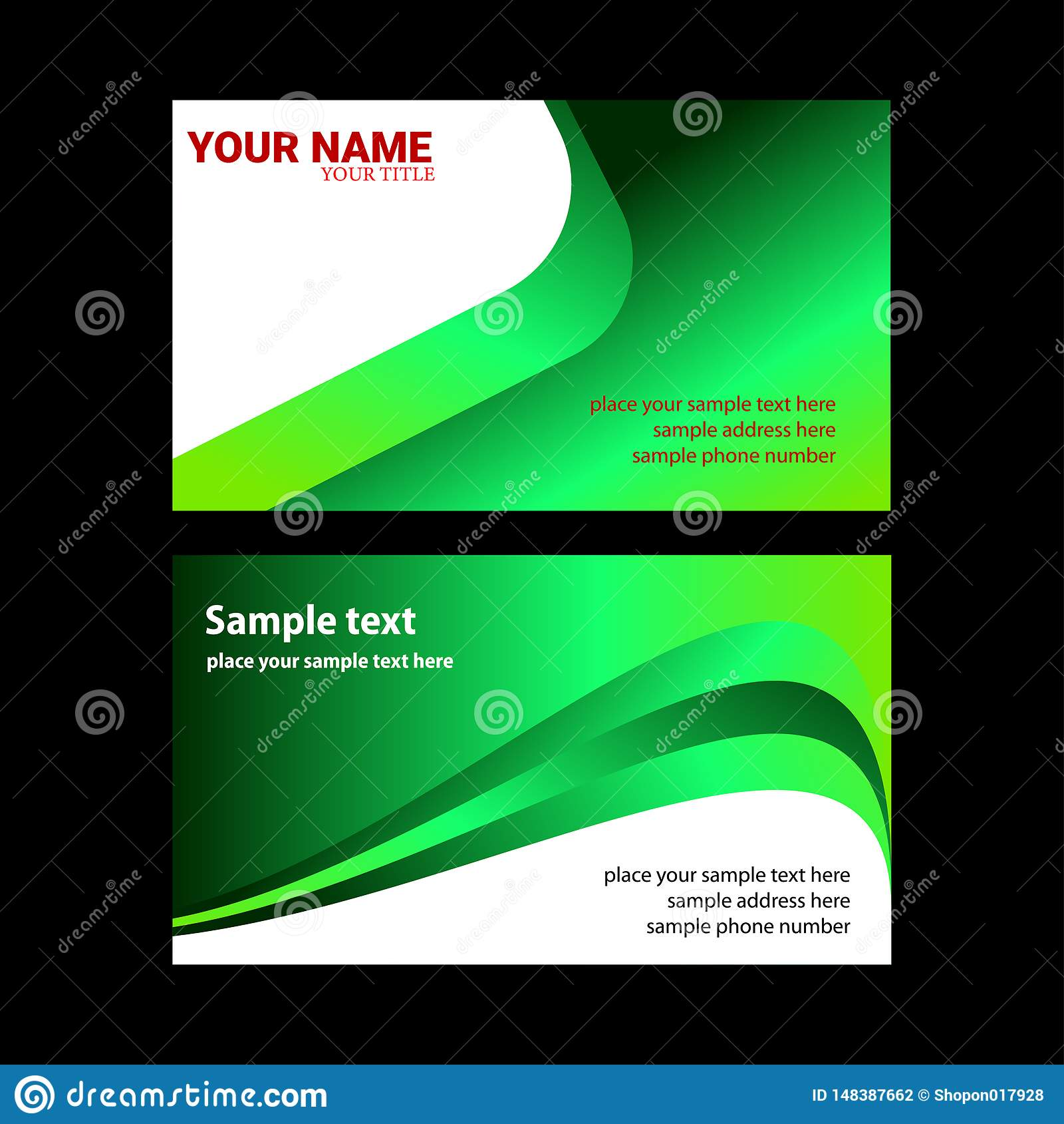 Plantilla moderna de la tarjeta de visita del vector