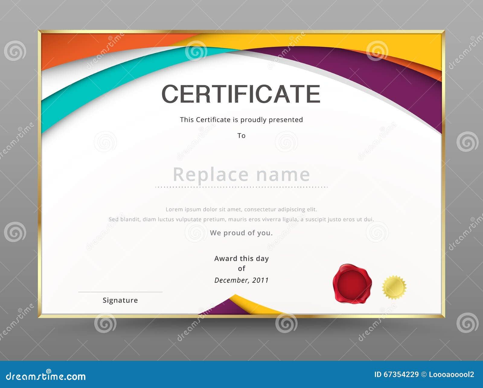 Plantilla moderna del aprecio del certificado diseño del diploma Vector