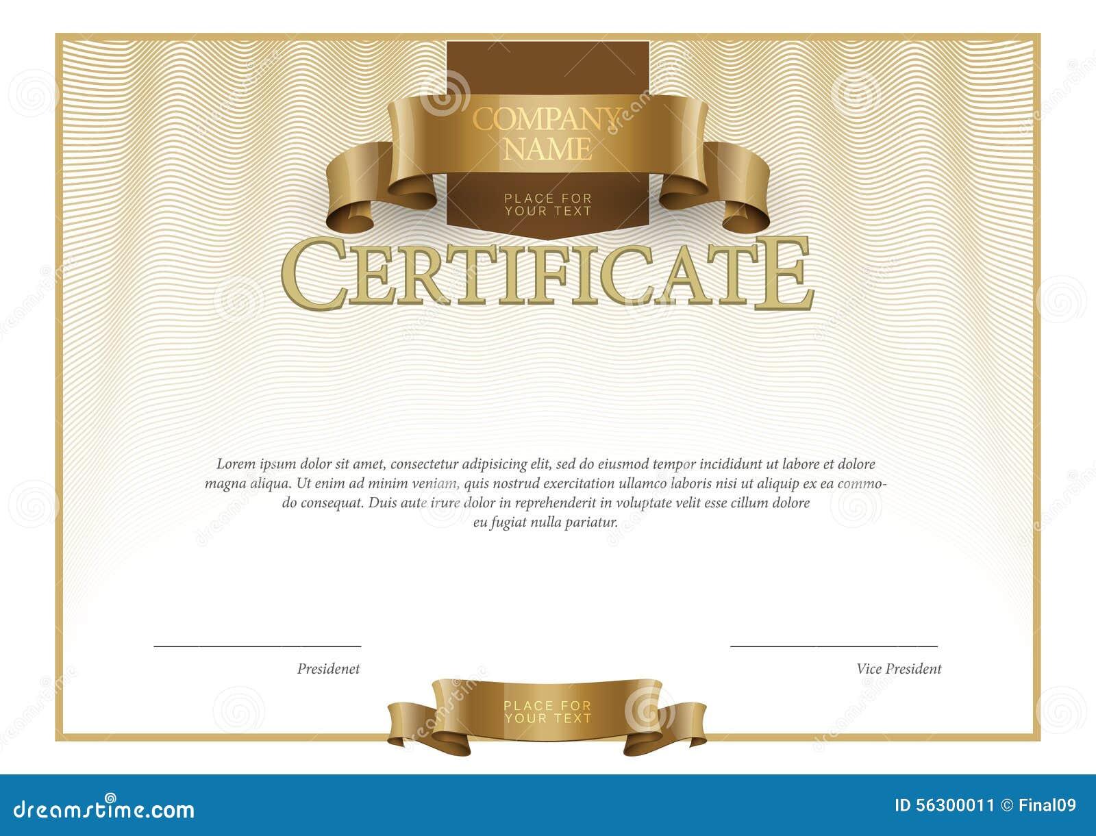Plantilla Moderna Del Certificado Y De Los Diplomas Vector ...