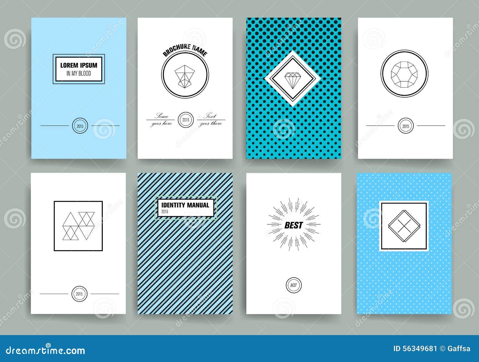 Plantilla Moderna Del Diseño De Tarjetas Con La Línea Aguda ...