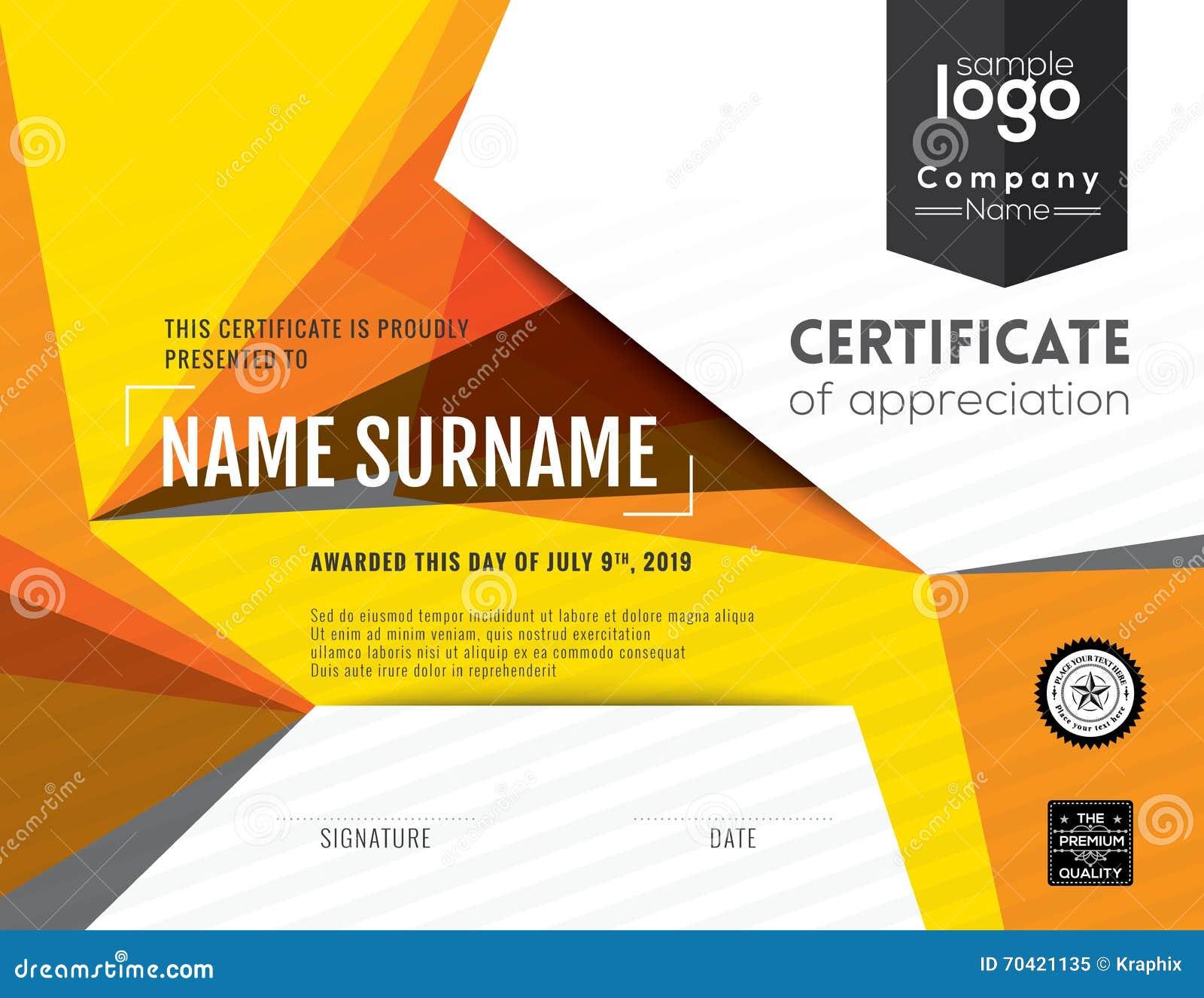 Plantilla moderna del diseño del fondo del certificado