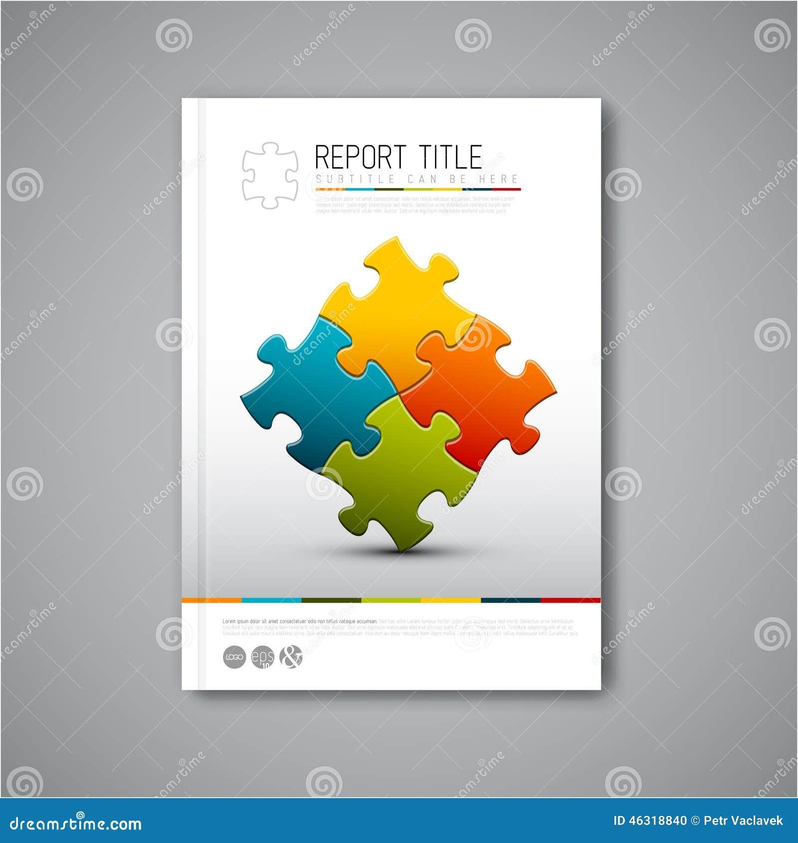 Plantilla moderna del diseño del informe del folleto del extracto del vector