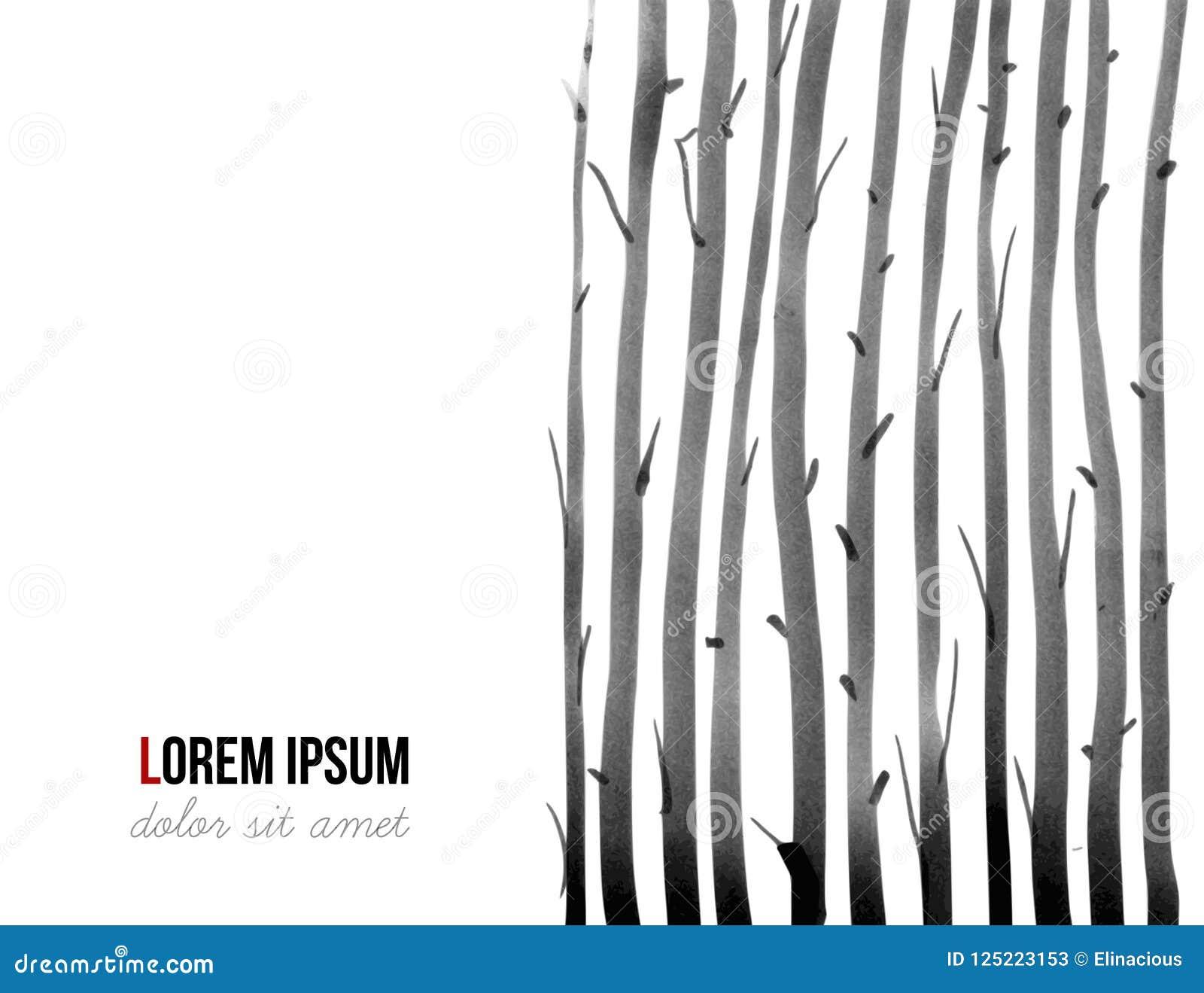 Plantilla negra minimalistic abstracta del diseño de la tinta con el lugar para su texto