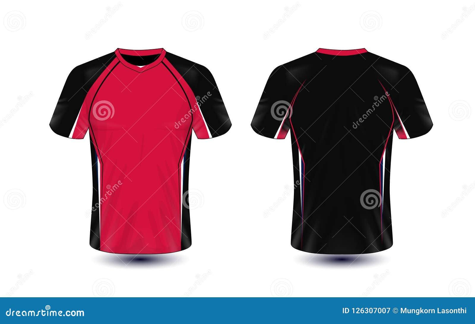 Camiseta Del Roja Deporte Y Diseño La Plantilla Negra De E gybfY76v