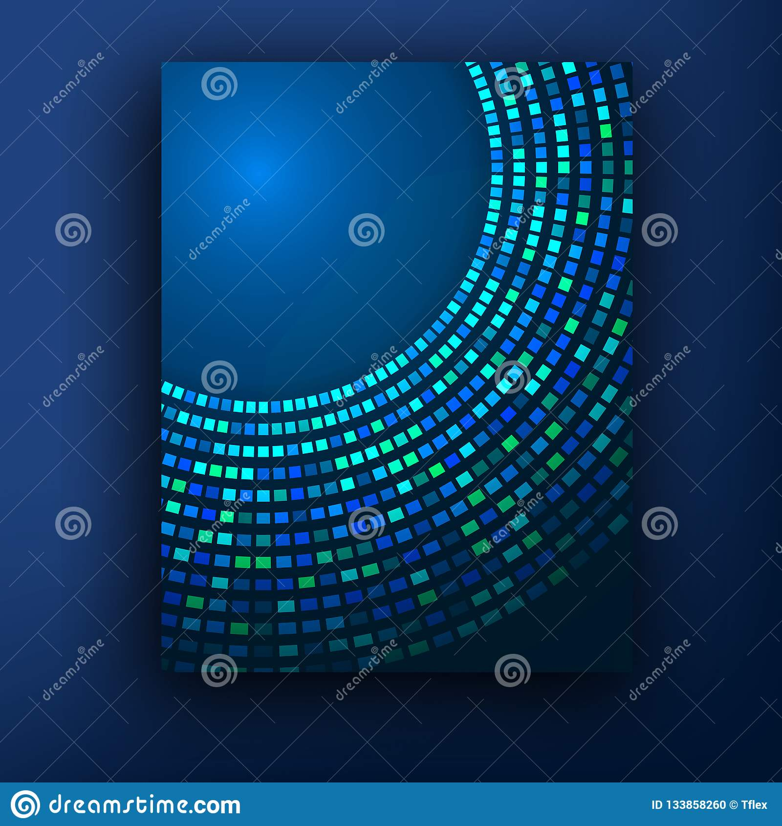 Plantilla o bandera del diseño de negocio del folleto Fondo abstracto del vector
