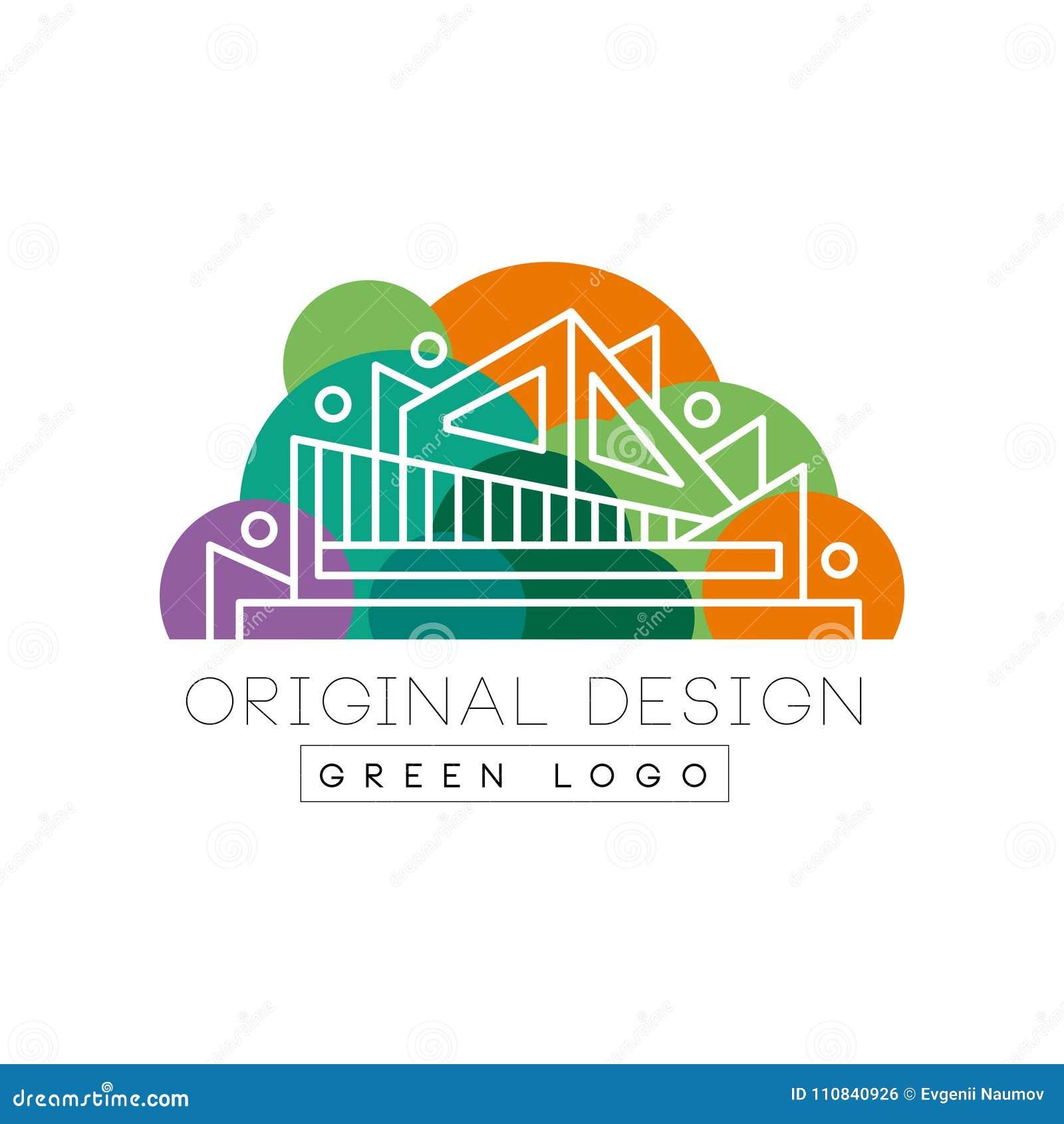 Plantilla Original Del Logotipo Del Diseño Del Logotipo Verde ...