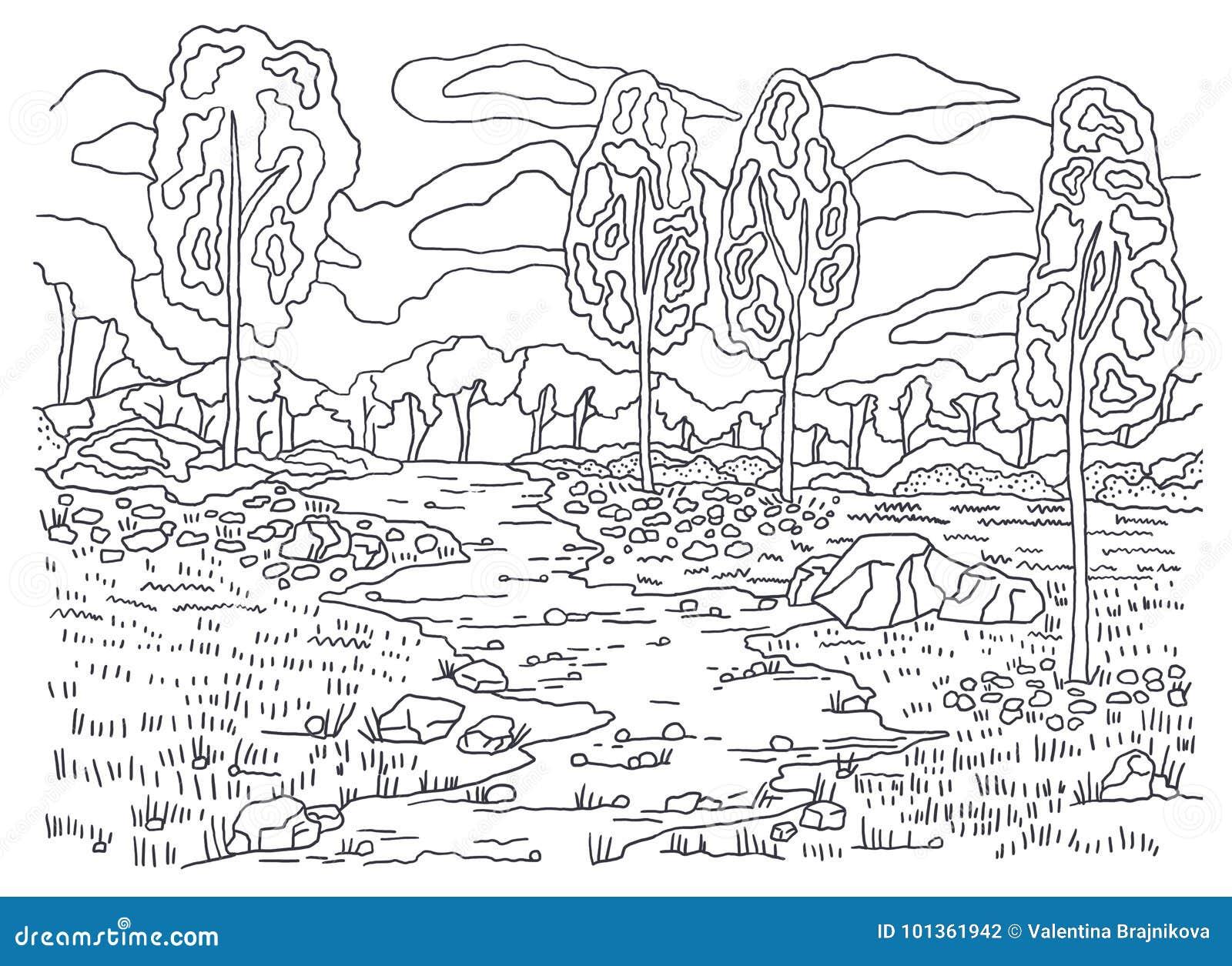 Paginas Para Colorear De Otono Dibujos Para Pintar Arbol: Plantilla Para Colorear Colorante Del Otoño Pintura De