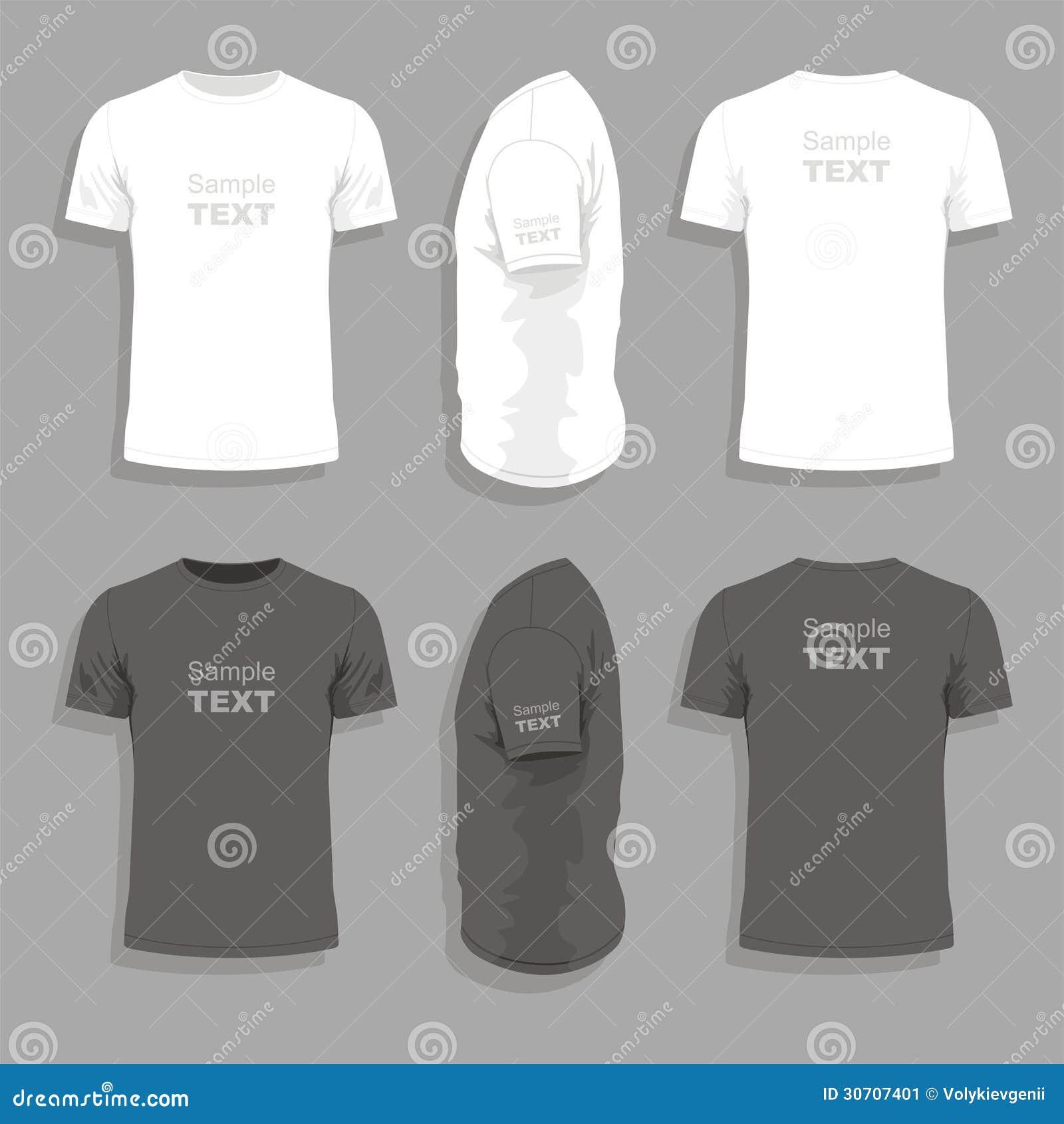 Plantilla Para Hombre Del Diseño De La Camiseta Ilustración del ...