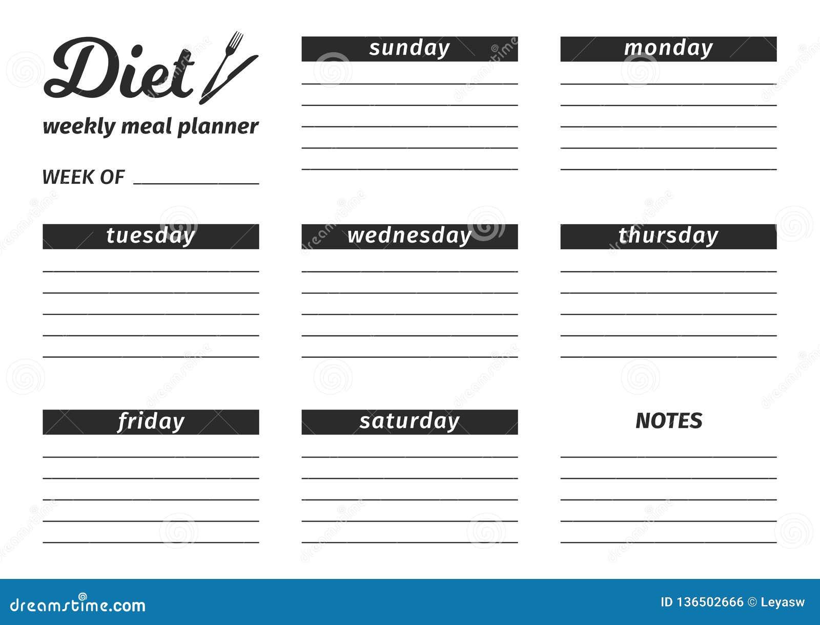 plan de comida de siete días