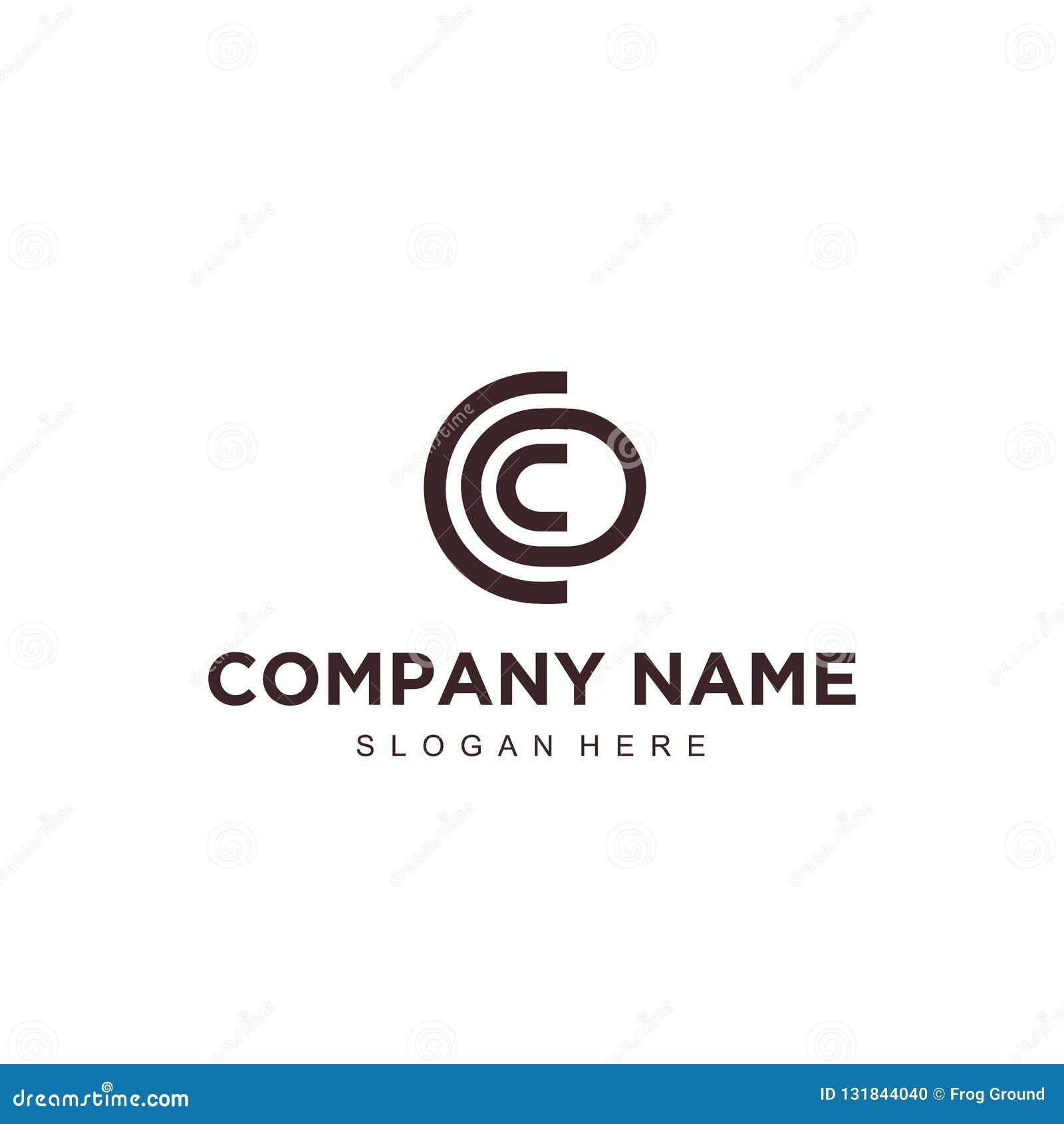Plantilla profesional moderna minimalistic simple del ilustrador del vector EPS de la letra c del diseño del logotipo