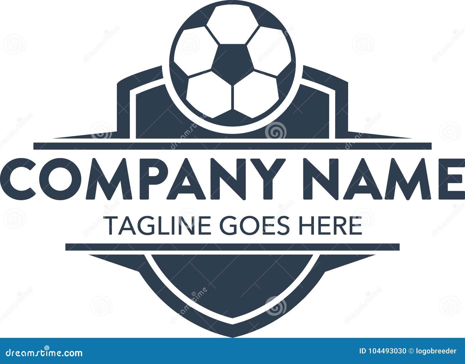 5830ed23adc69 Plantilla relacionada del logotipo del fútbol único del fútbol Vector  editable