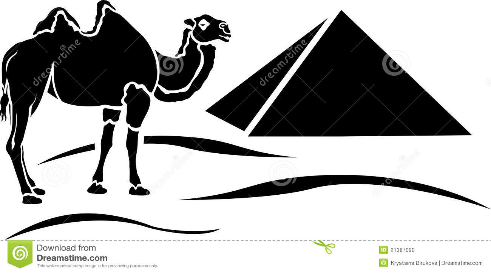 Plantilla Simplificada Del Camello Ilustración del Vector ...