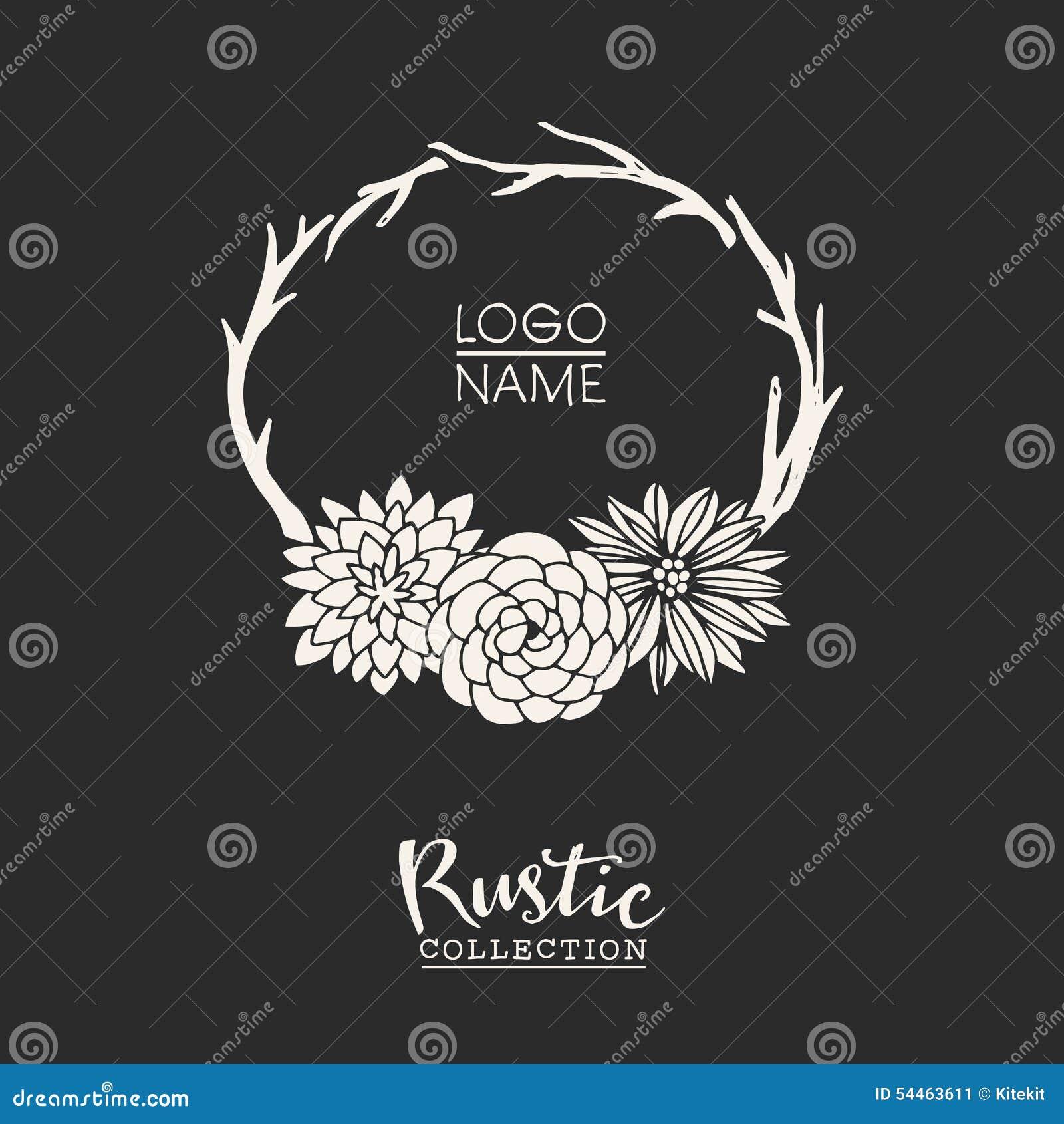 Plantilla Tipografica Preparada De Antemano Rustica Del Logotipo Con