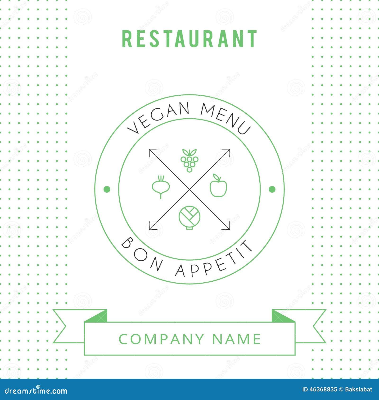 Plantilla Vegetariana Del Diseño De Tarjeta Del Menú Del Restaurante ...