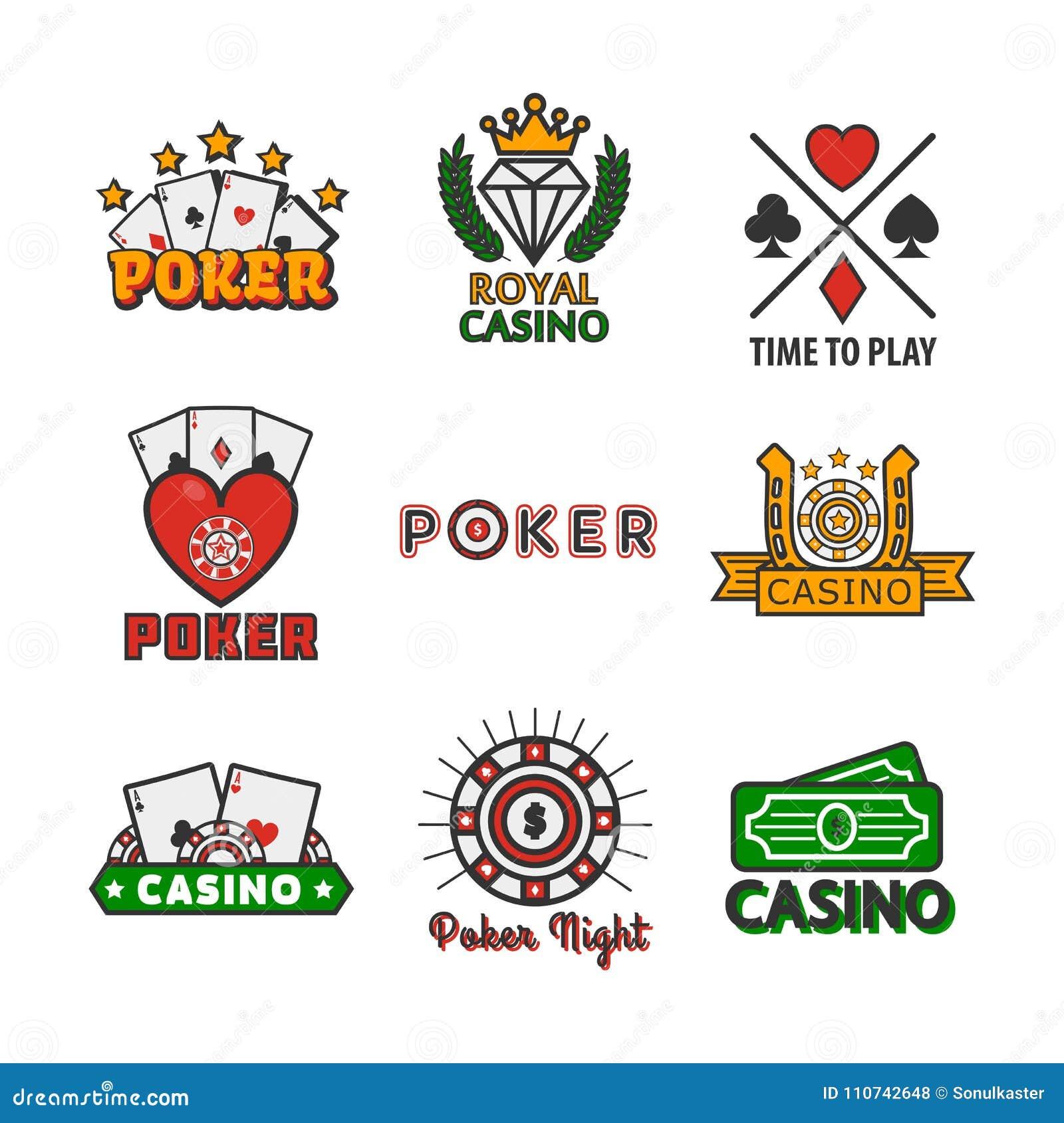 Plantillas De Los Iconos Del Vector Del Póker Del Casino De ...