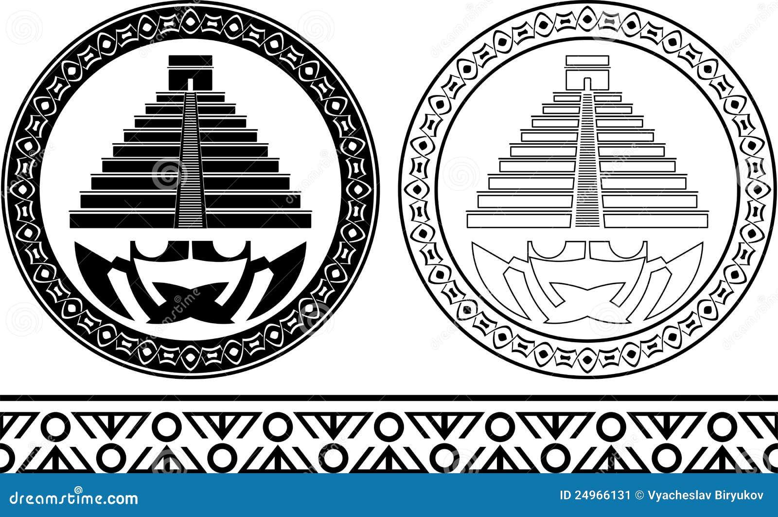 Plantillas de pirámides mayas