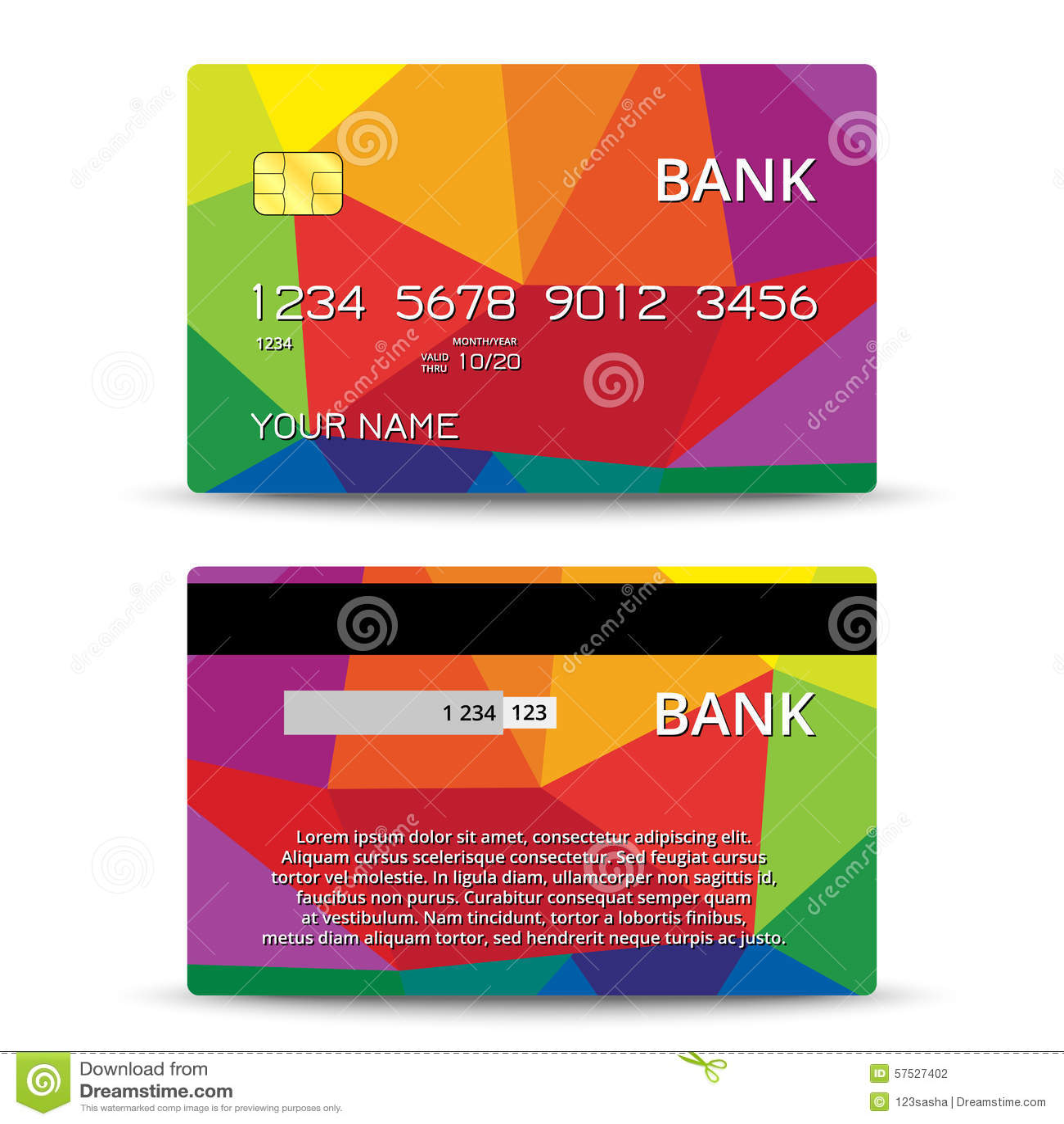 Plantillas Del Diseño De Las Tarjetas De Crédito Ilustración del ...