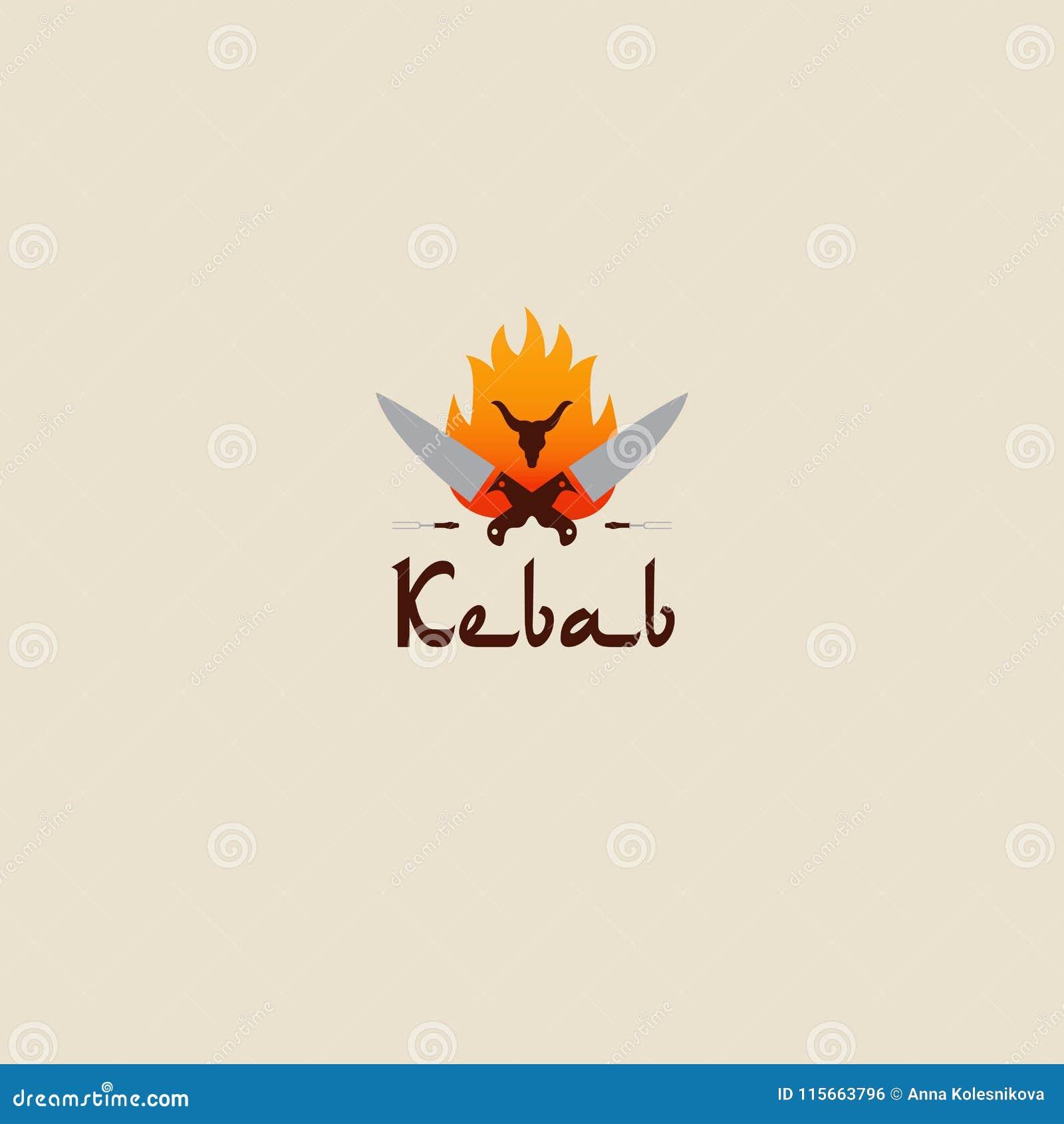 Plantillas Del Logotipo Del Kebab De Doner Vector Las Etiquetas ...