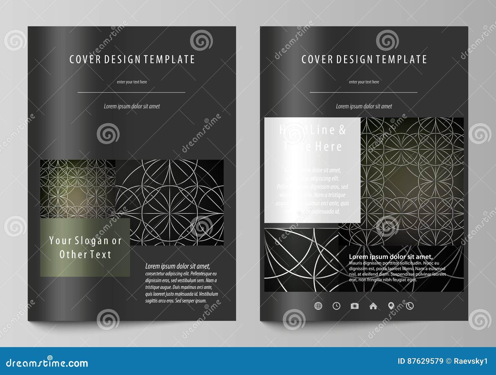 Plantillas del negocio para el folleto, revista, aviador, folleto, informe Cubra la plantilla del diseño, disposición del vector