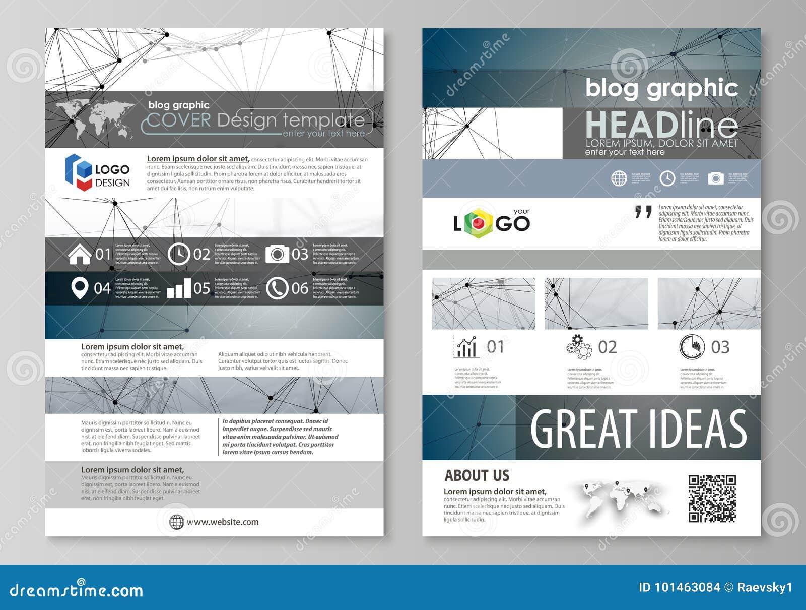 Plantillas gráficas del negocio del blog Plantilla del diseño del sitio web de la página, disposición abstracta editable fácil de