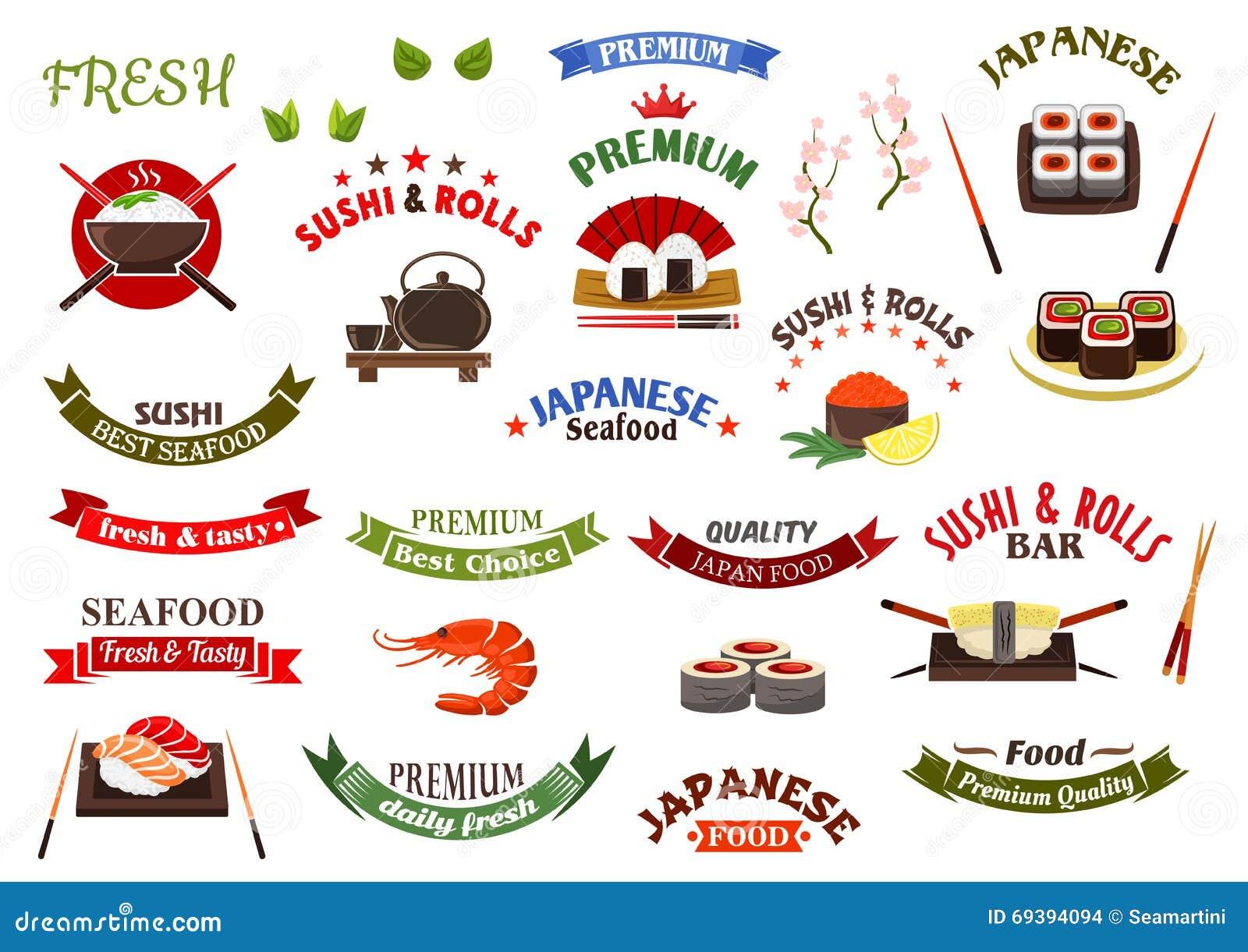 Plantillas Japonesas Del Diseño De La Barra De La Cocina Y De Sushi ...