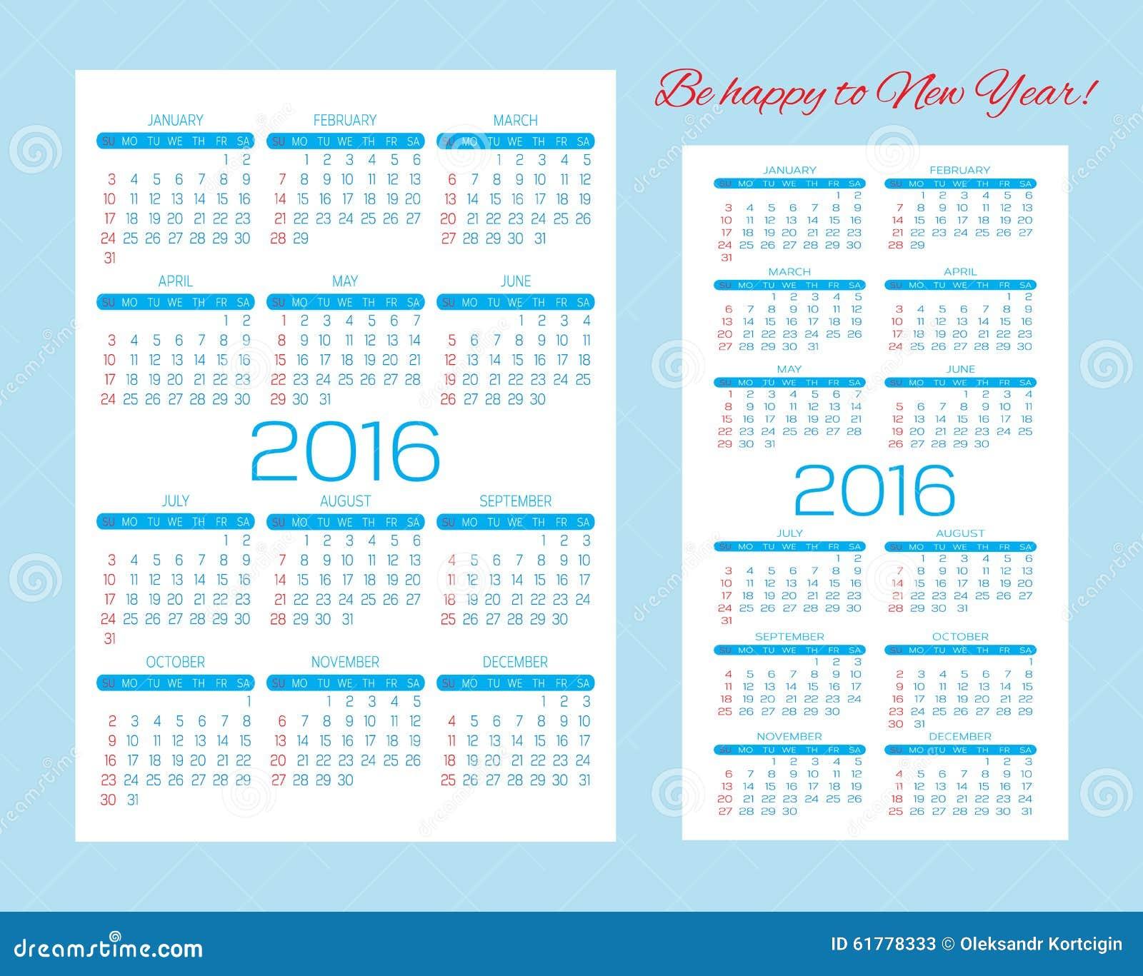 Plantillas Para Los Calendarios, Los Calendarios Del Bolsillo Y ...