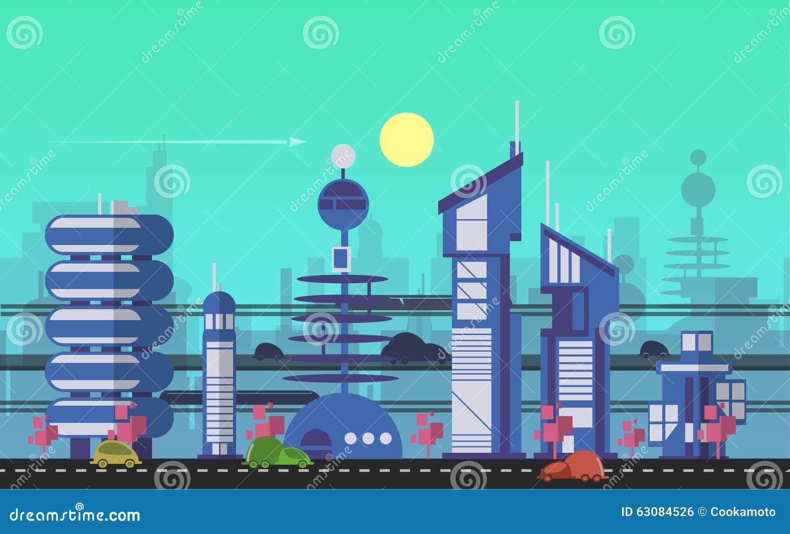 Plantillas Urbanas Ocupadas Del Paisaje Urbano Ilustración del ...