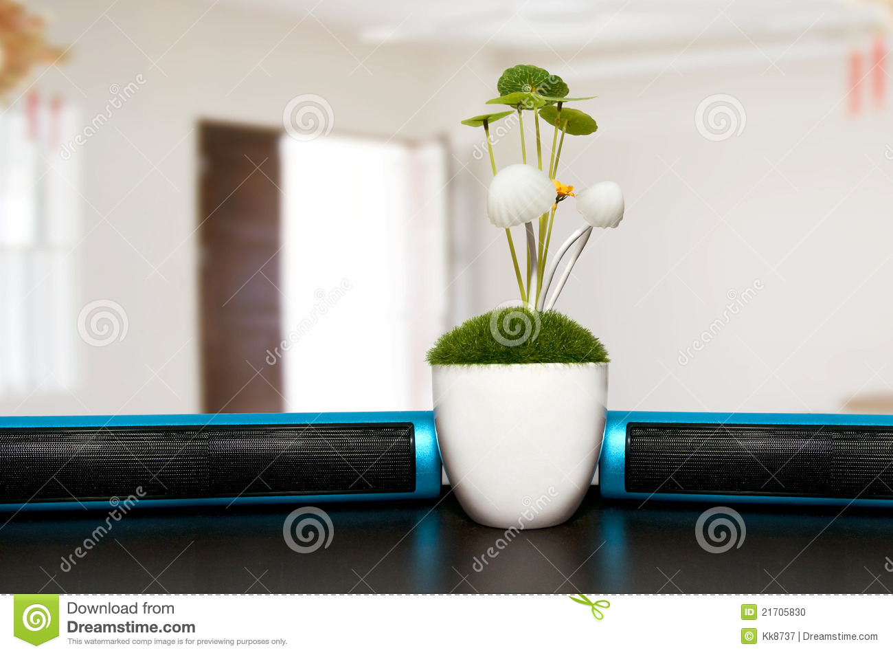 plants on office desk stock photo - image: 21705830