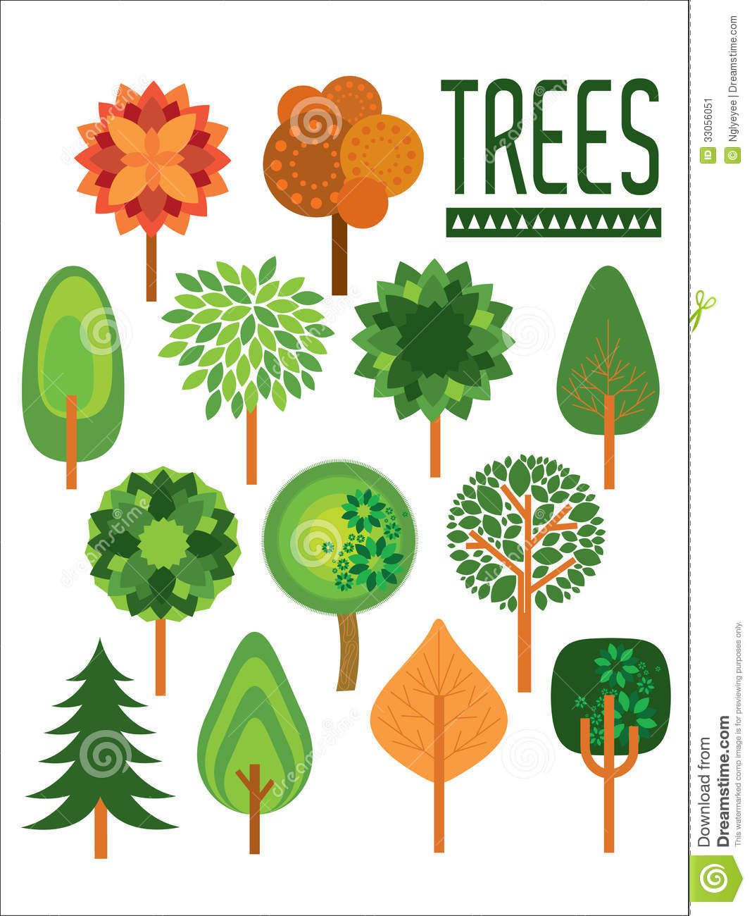 Plants and trees illustration stock illustration image for Different types of plants and trees