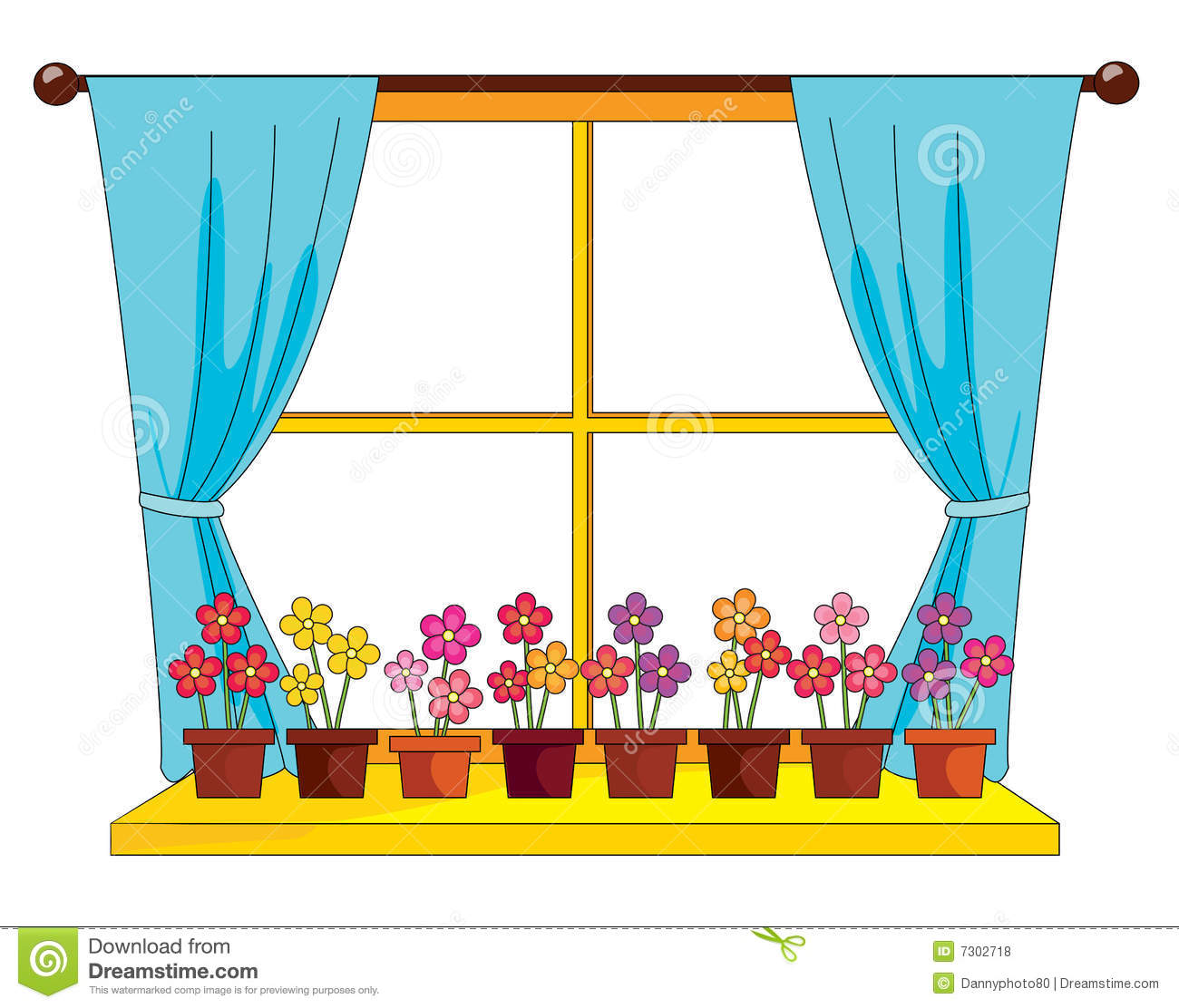 Plants By The Window Royalty Free Stock Photos Image