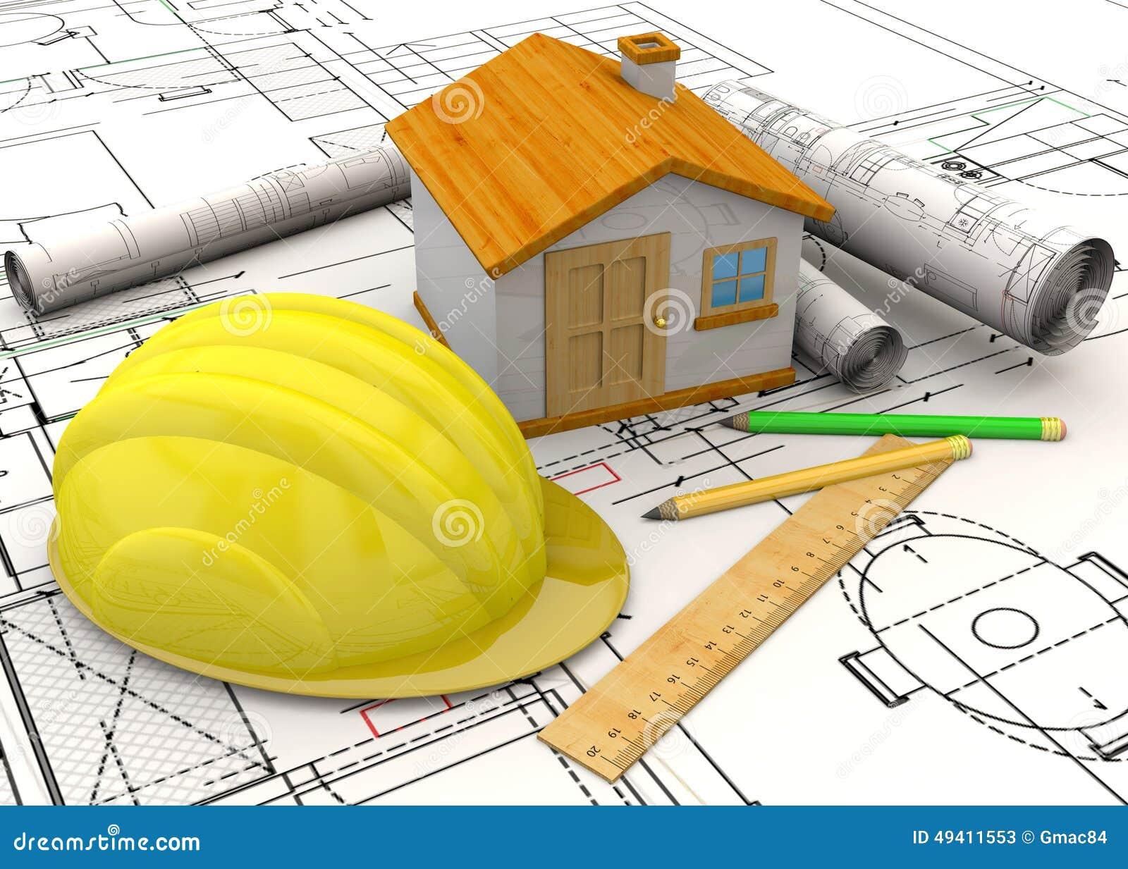 Download Planungs-Hauptkonzept - 3D stock abbildung. Illustration von plan - 49411553