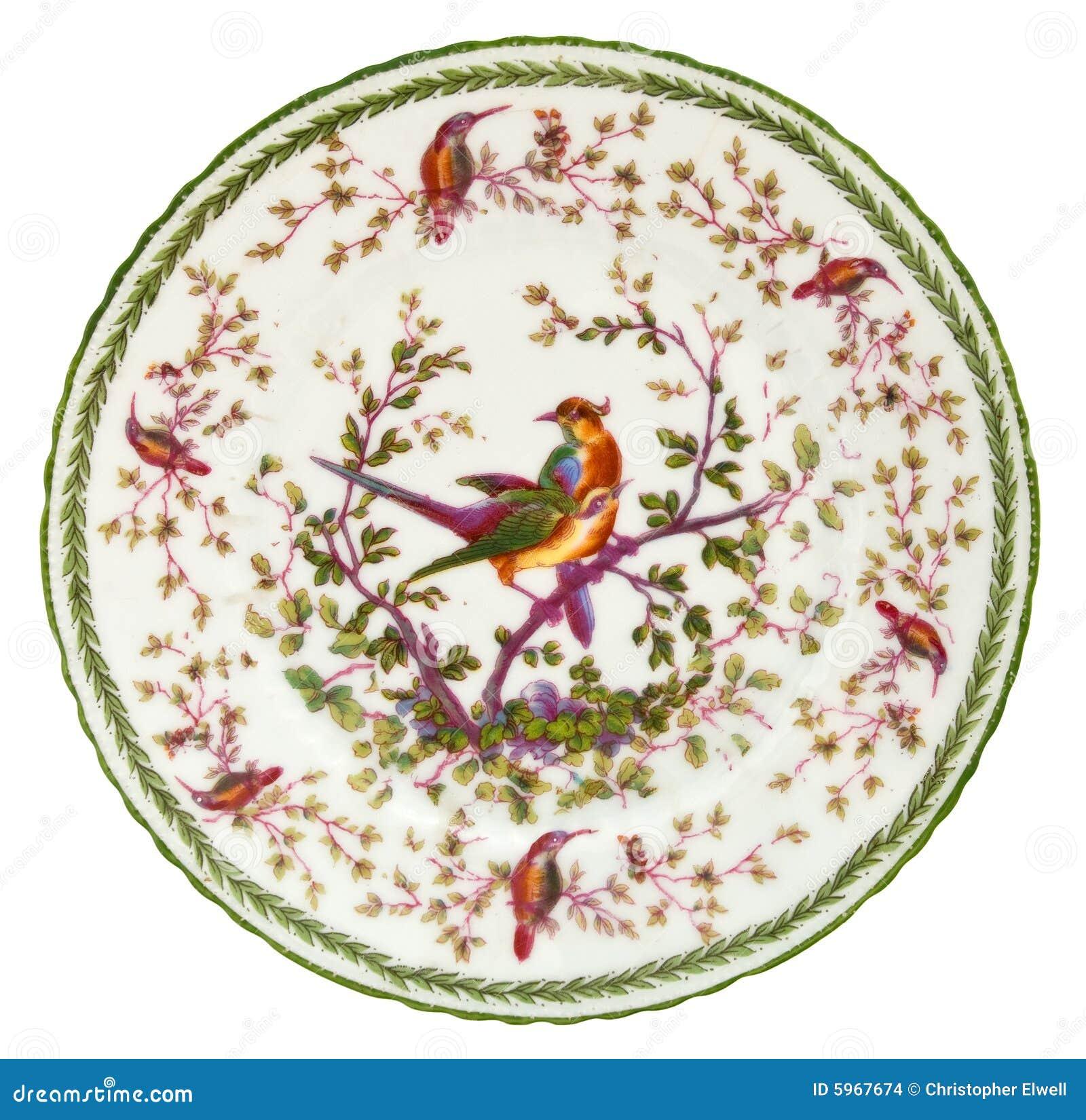 Plaque antique de porcelaine