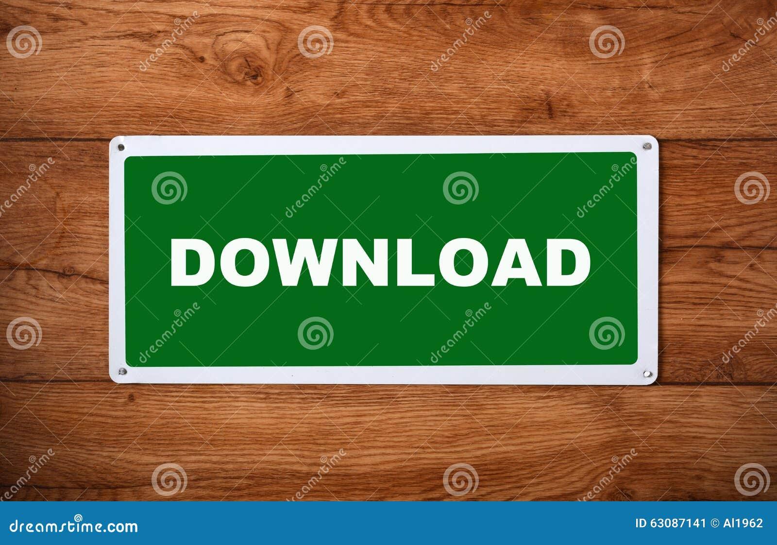 Download Plaque Avec Le Téléchargement D'inscription Image stock - Image du concept, traitement: 63087141