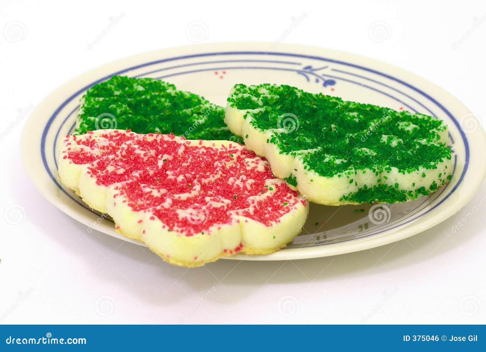 Plaque de biscuit de Noël