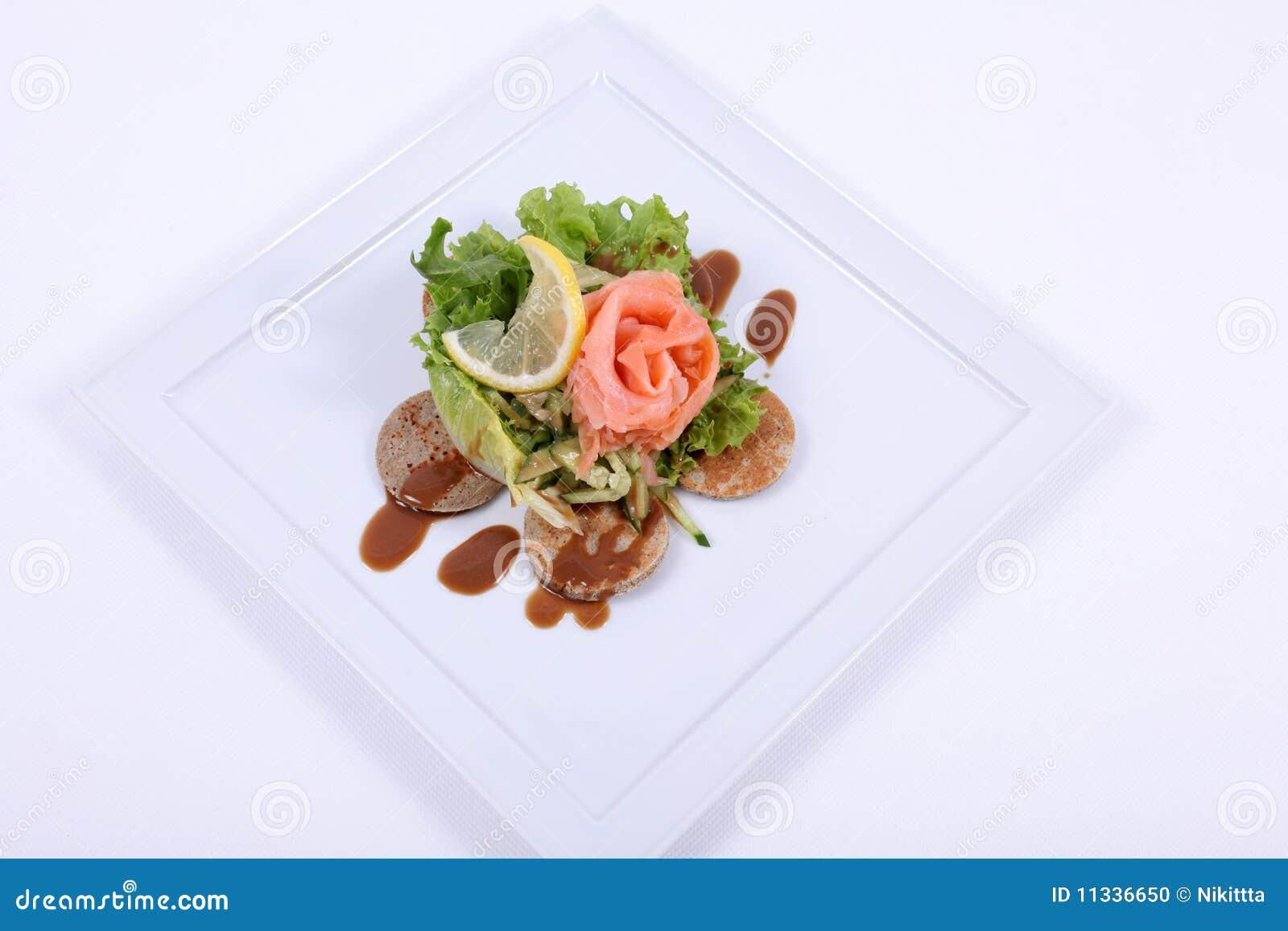 Plaque de repas dinant fin