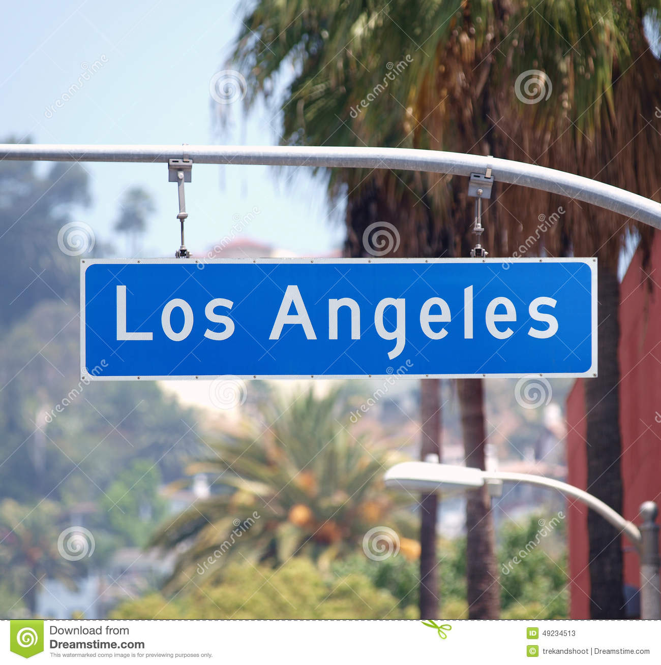 Plaque de rue de los angeles image stock image du for De signs