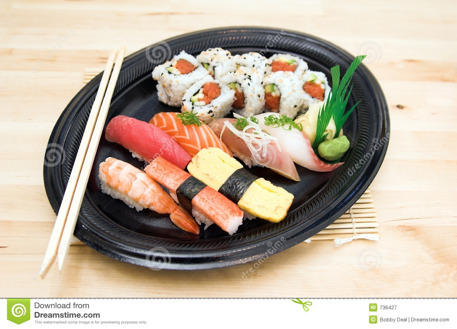Plaque de sushi