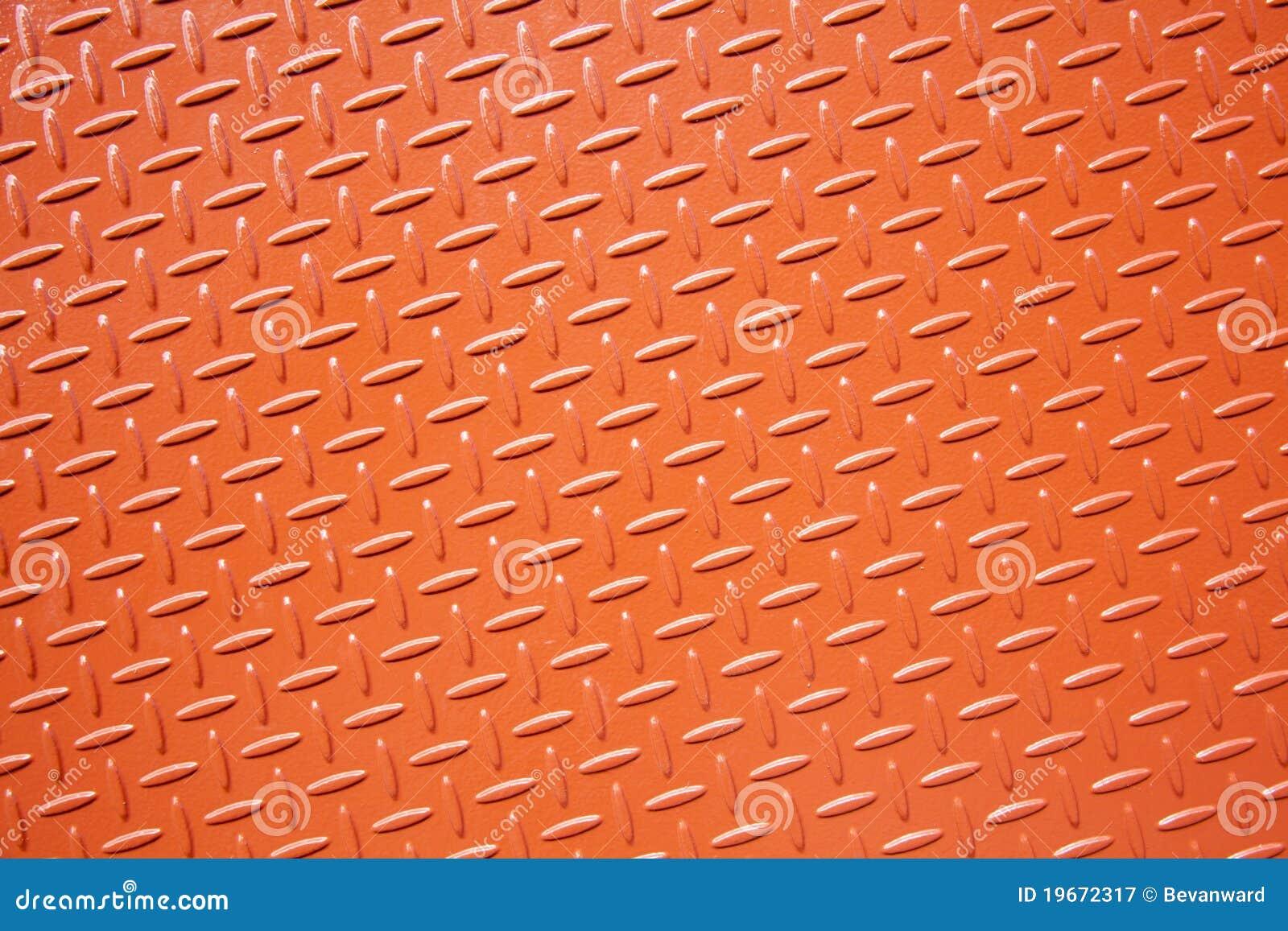 plaque en acier texturis e orange photographie stock libre. Black Bedroom Furniture Sets. Home Design Ideas