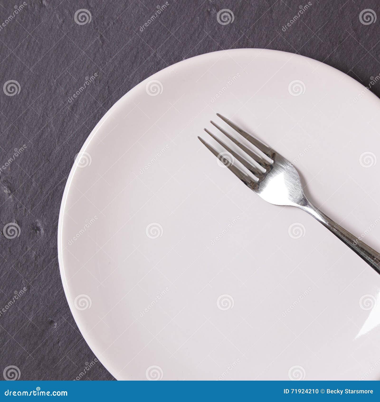 Plaque et fourchette