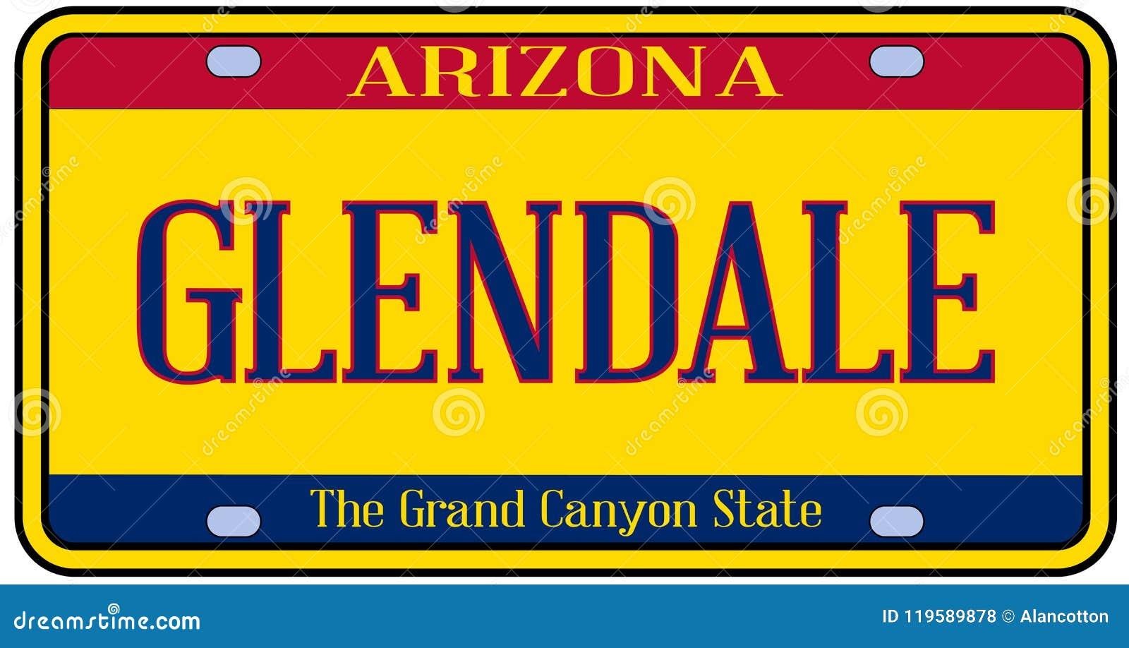 Plaque minéralogique d état de l Arizona Glendale