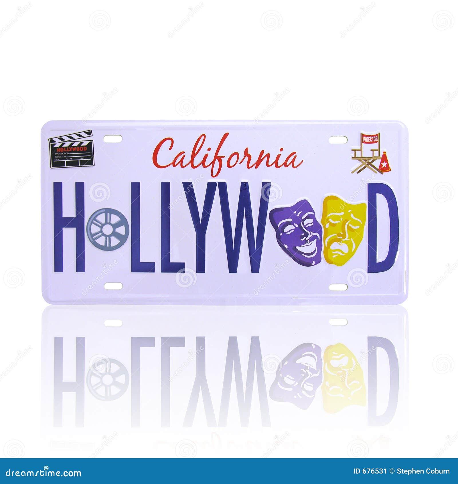 Plaque minéralogique de Hollywood