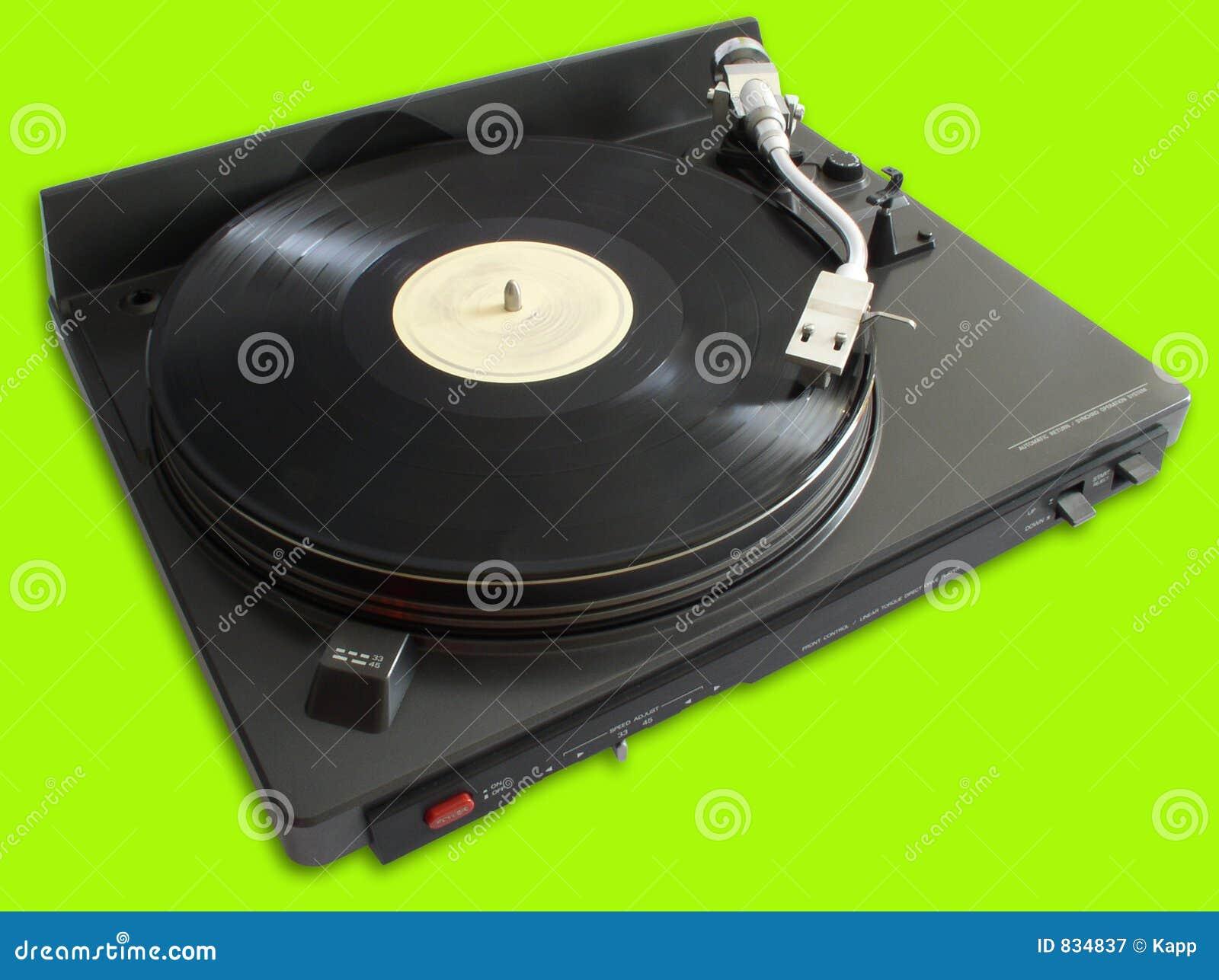 plaque tournante avec du vinyle image stock image du lin aire cul 834837. Black Bedroom Furniture Sets. Home Design Ideas