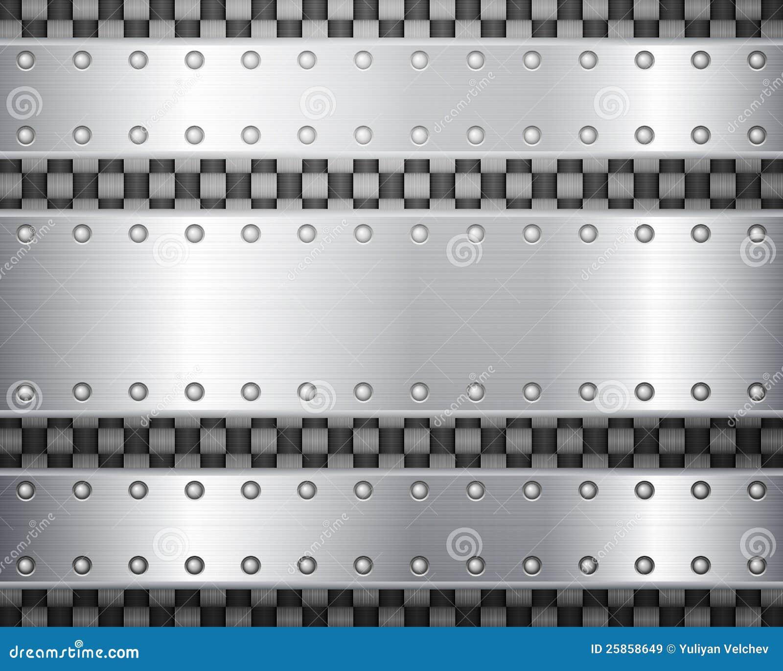 Plaques de carbone et en métal